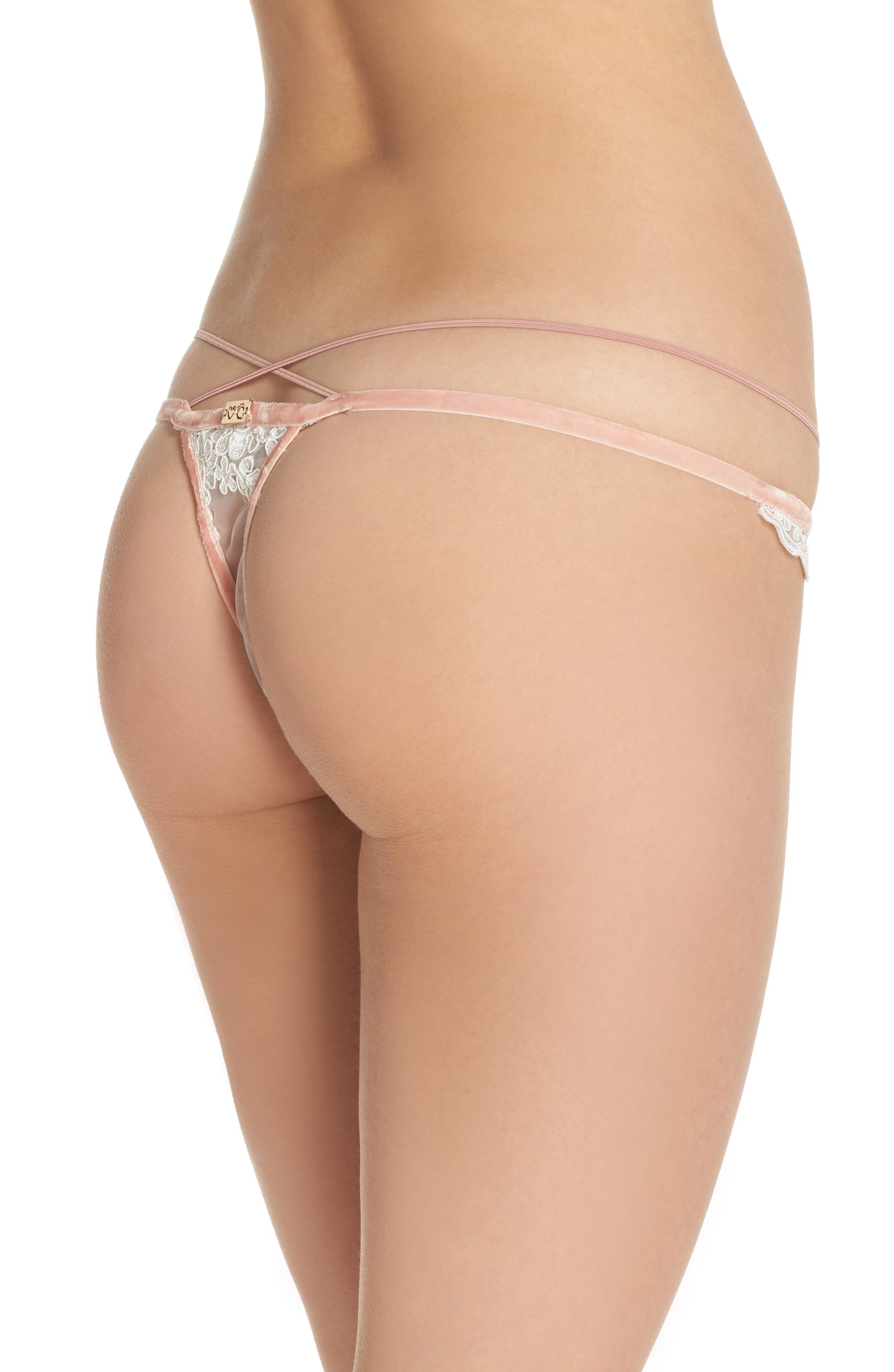 Noemi Strappy Scallop Lace Thong,                             Alternate thumbnail 2, color,                             900