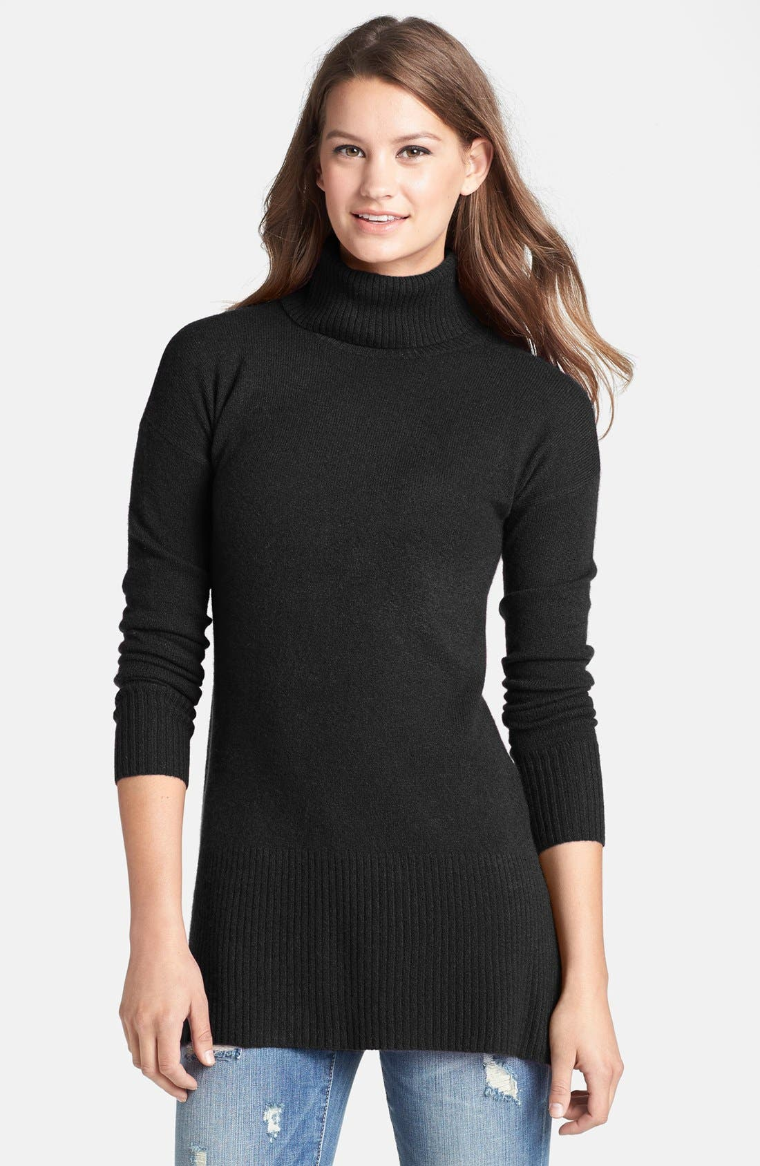 Cashmere Turtleneck Sweater, Main, color, 001