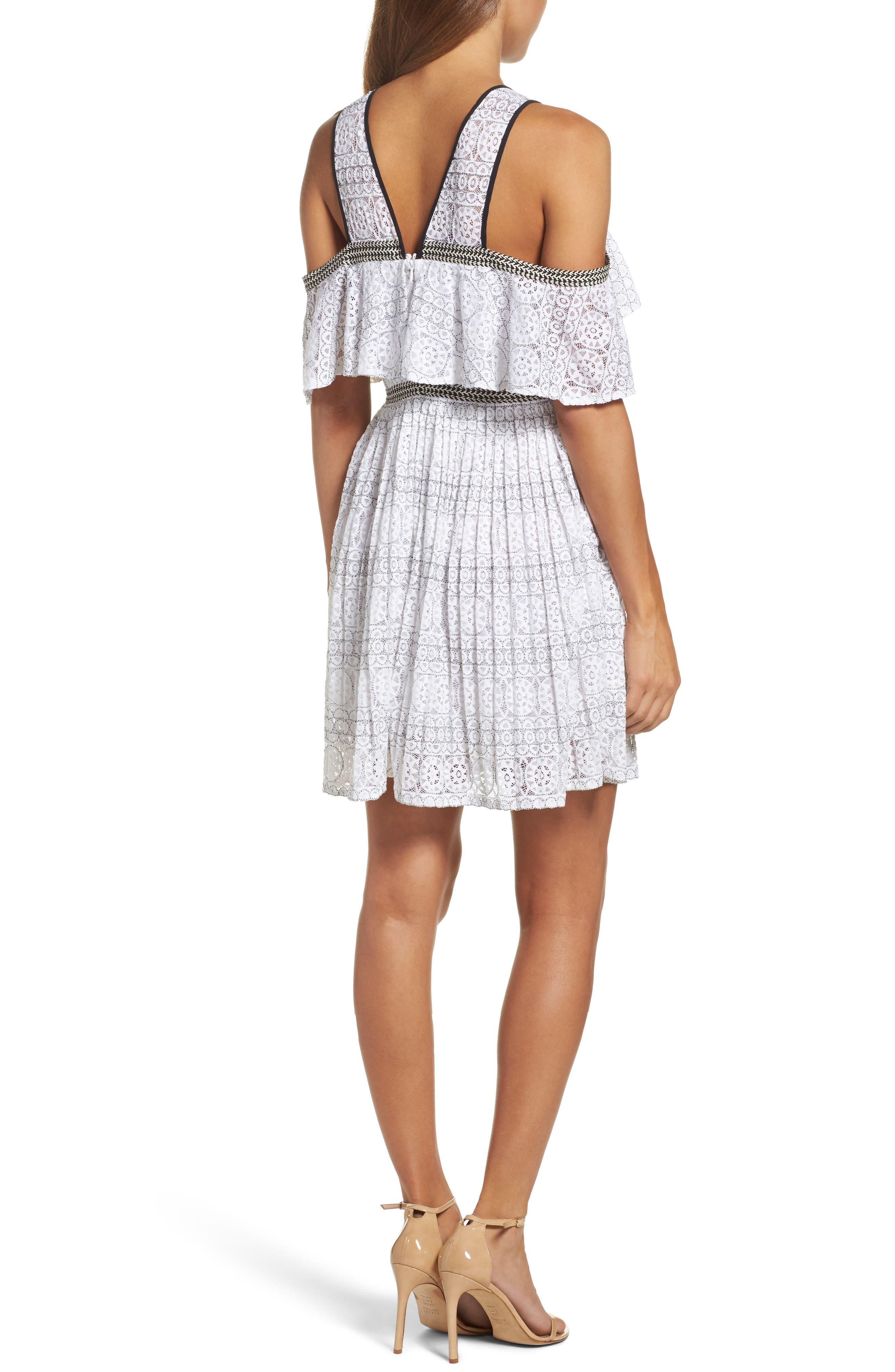 Belinda Lace Cold Shoulder Dress,                             Alternate thumbnail 2, color,