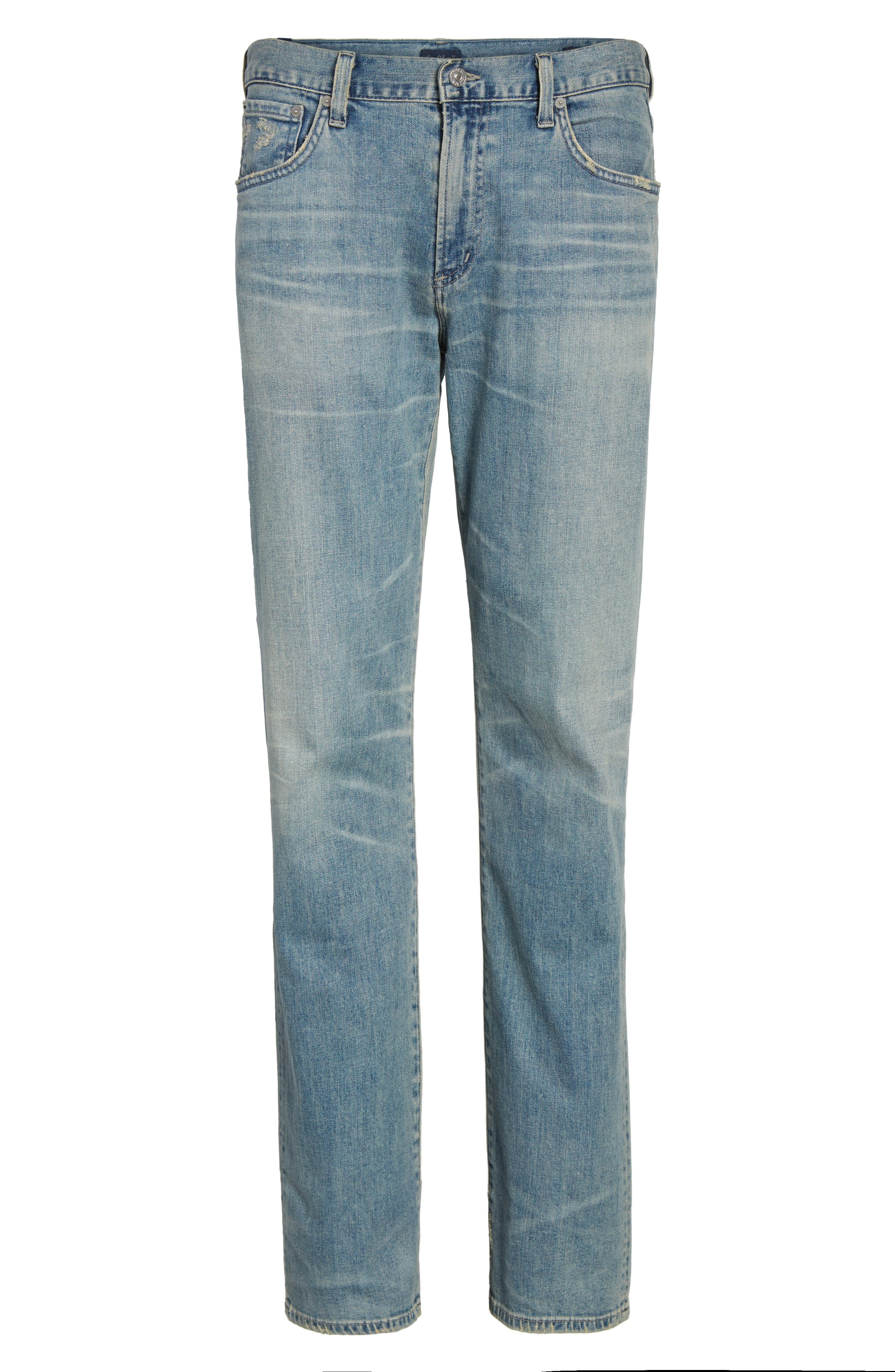 Sid Straight Leg Jeans,                             Alternate thumbnail 6, color,                             ANCHOR