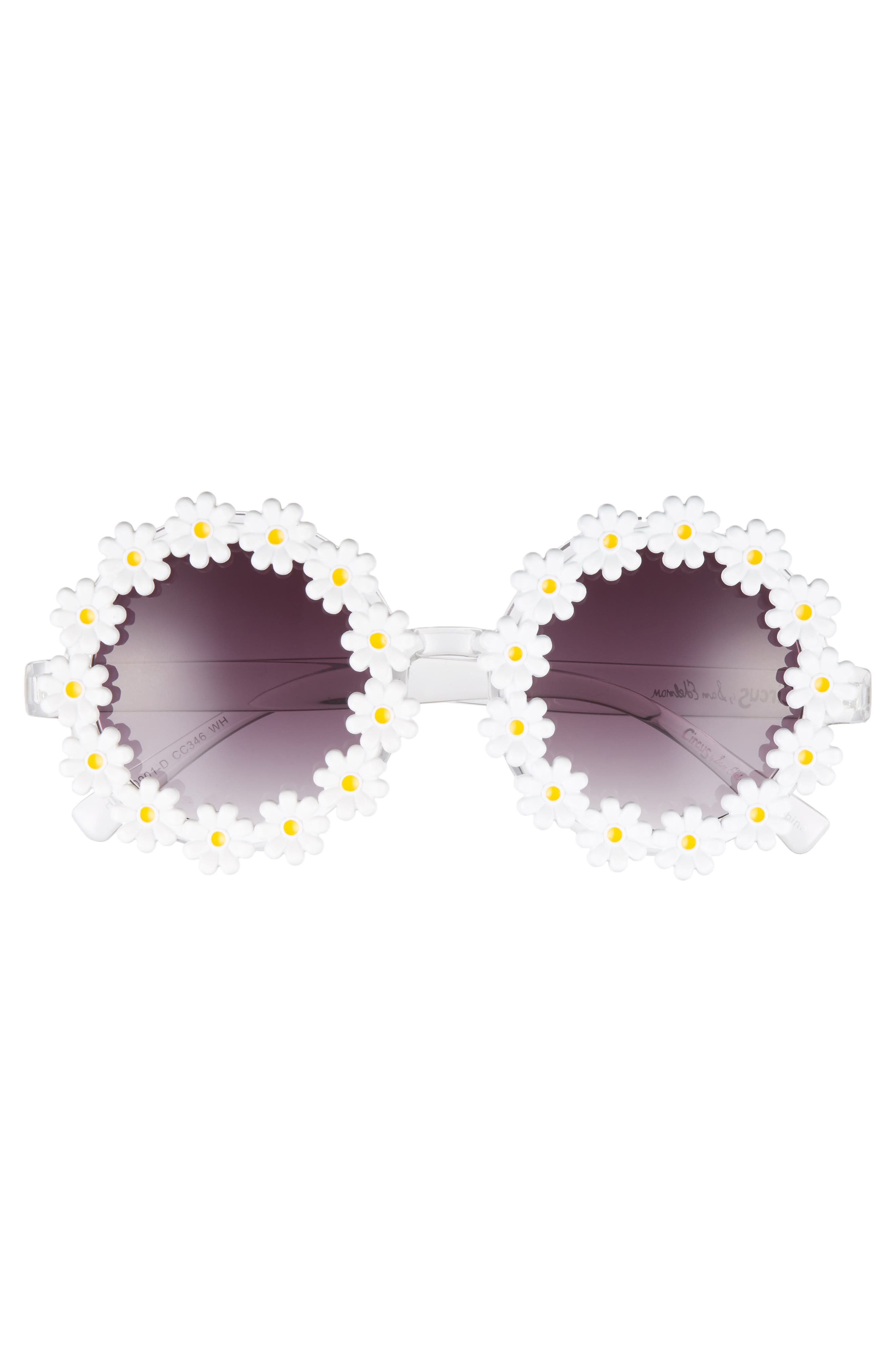 45mm Round Sunglasses,                             Alternate thumbnail 3, color,                             100