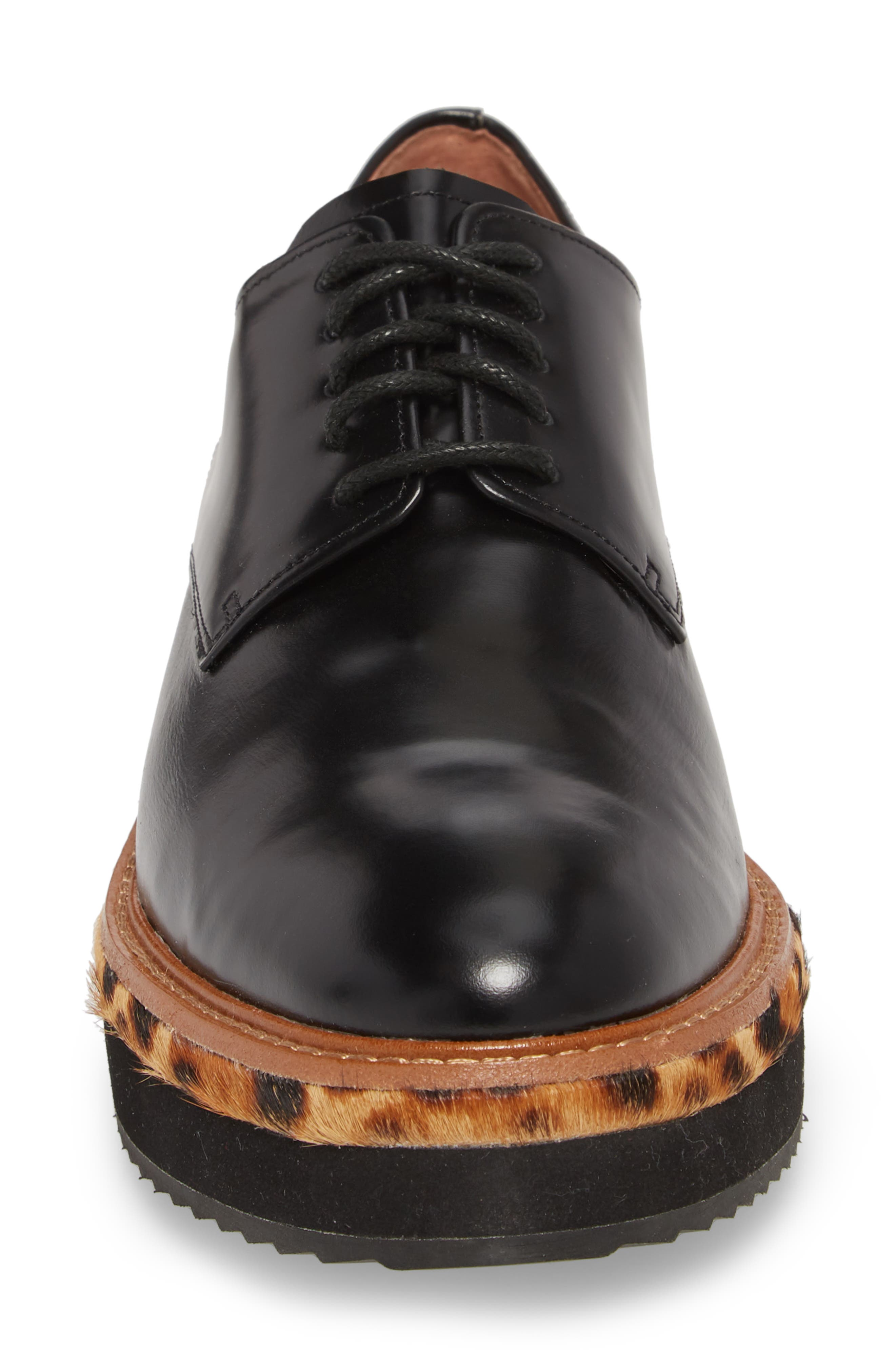 Maddox Oxford,                             Alternate thumbnail 4, color,                             BLACK BOX LEATHER/ LEOPARD