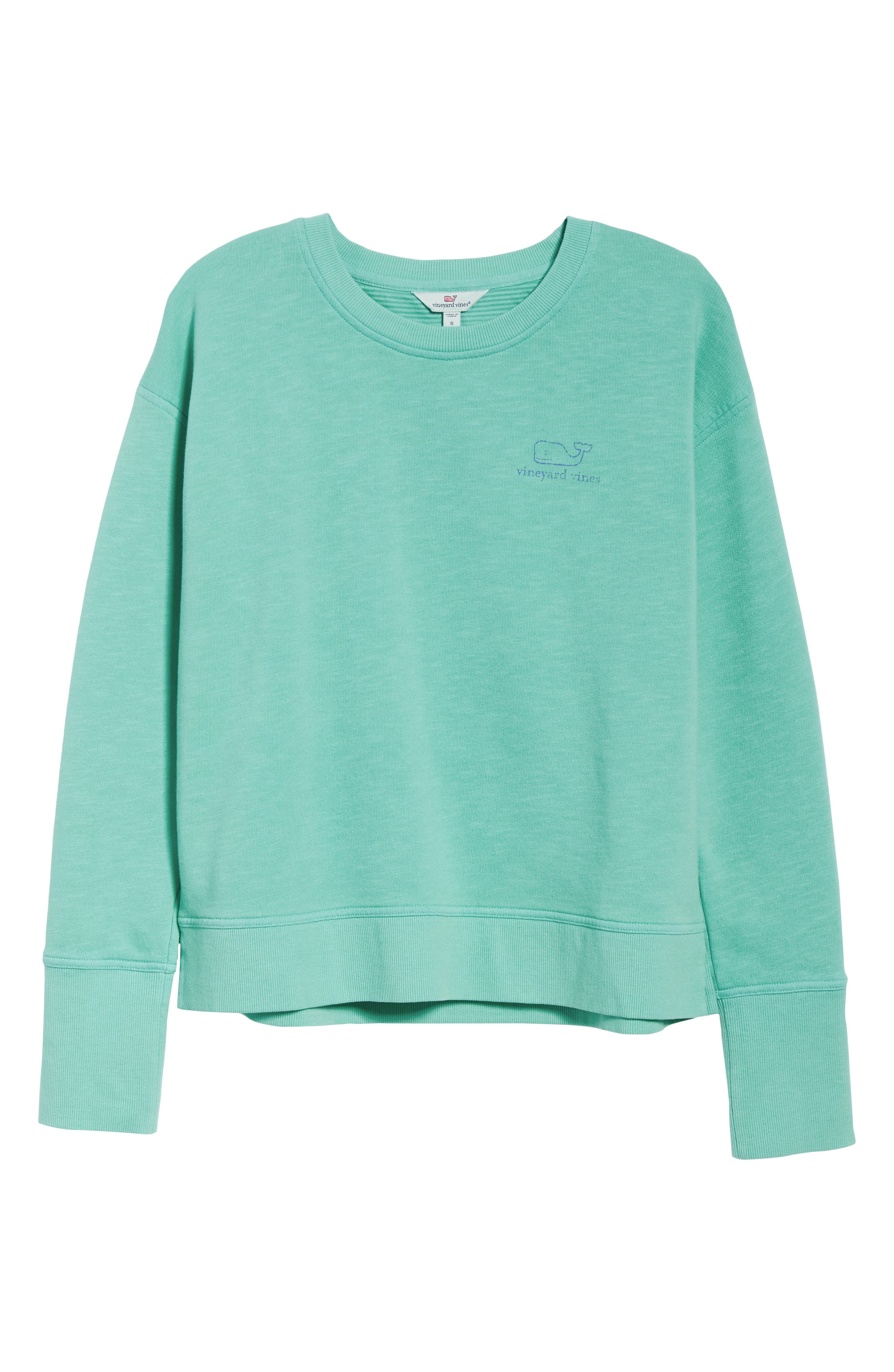 Garment Dyed Vintage Whale Long Sleeve Cotton Tee,                             Alternate thumbnail 6, color,                             464