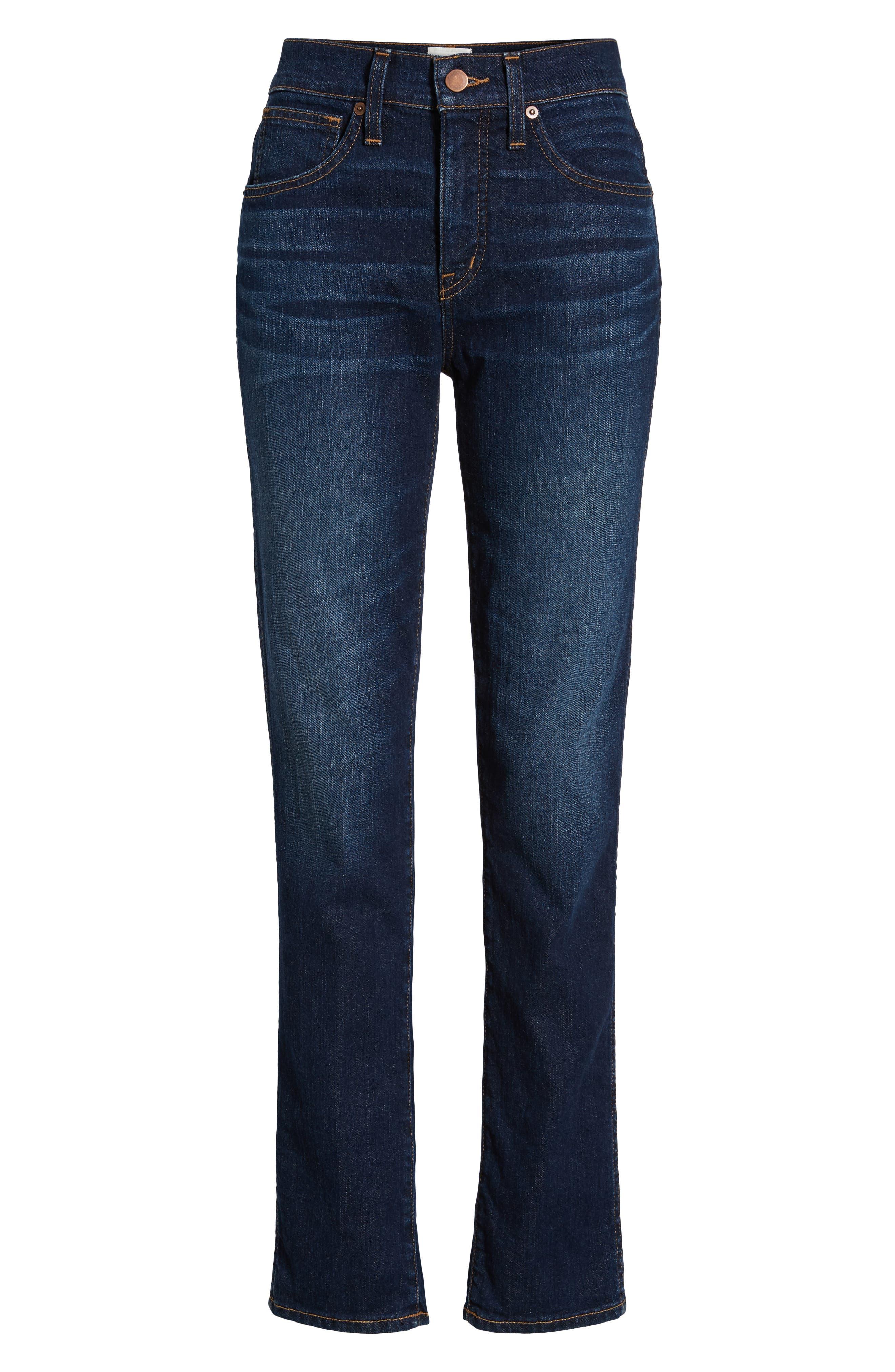 Slim Straight Jeans,                             Alternate thumbnail 7, color,                             420
