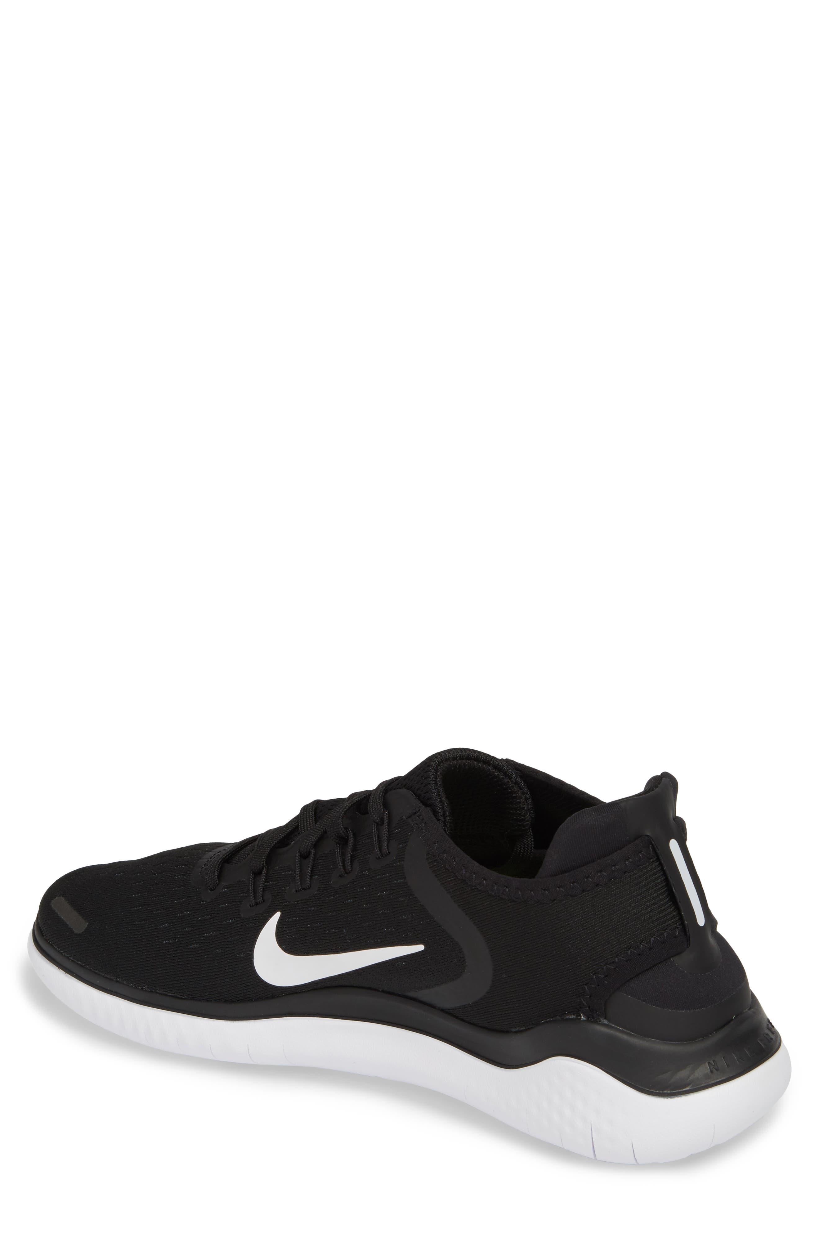 Free RN 2018 Running Shoe,                             Alternate thumbnail 2, color,                             BLACK/ WHITE
