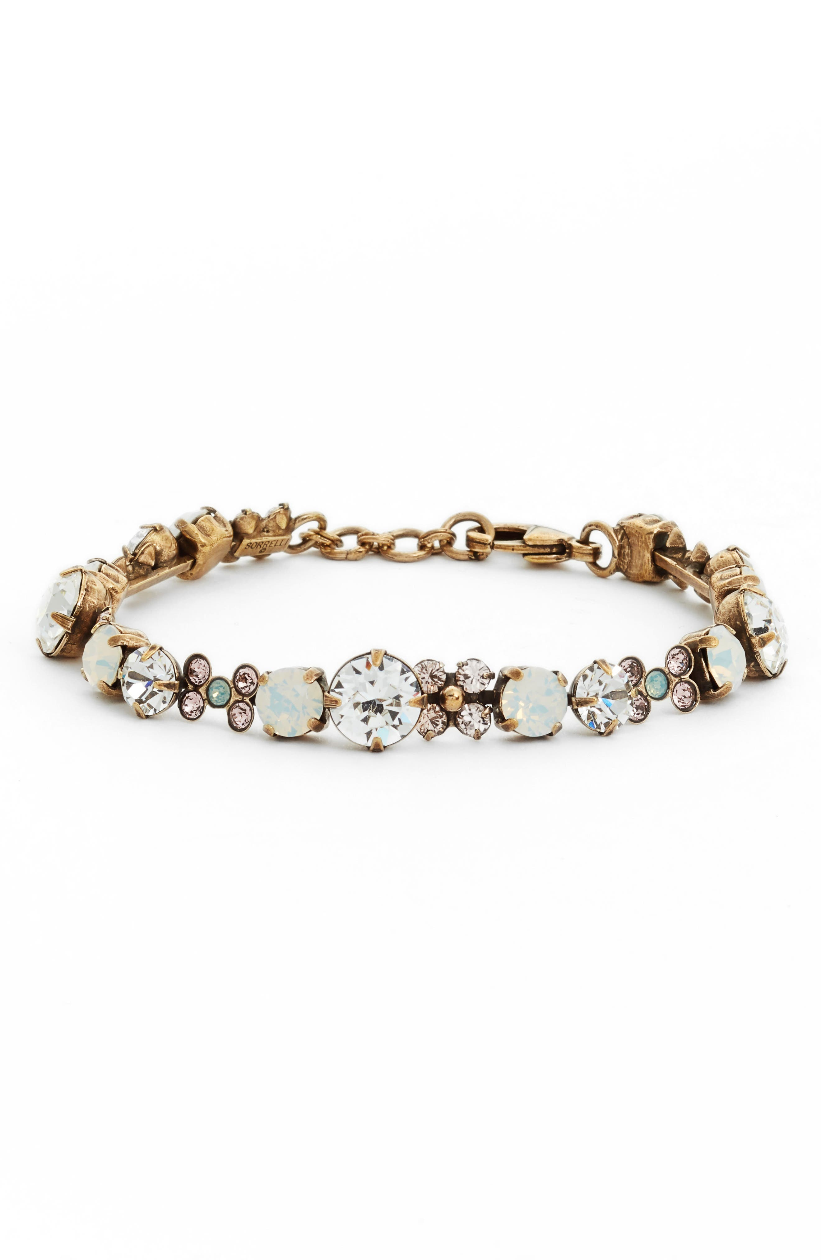 Well Rounded Crystal Bracelet,                             Main thumbnail 1, color,                             710
