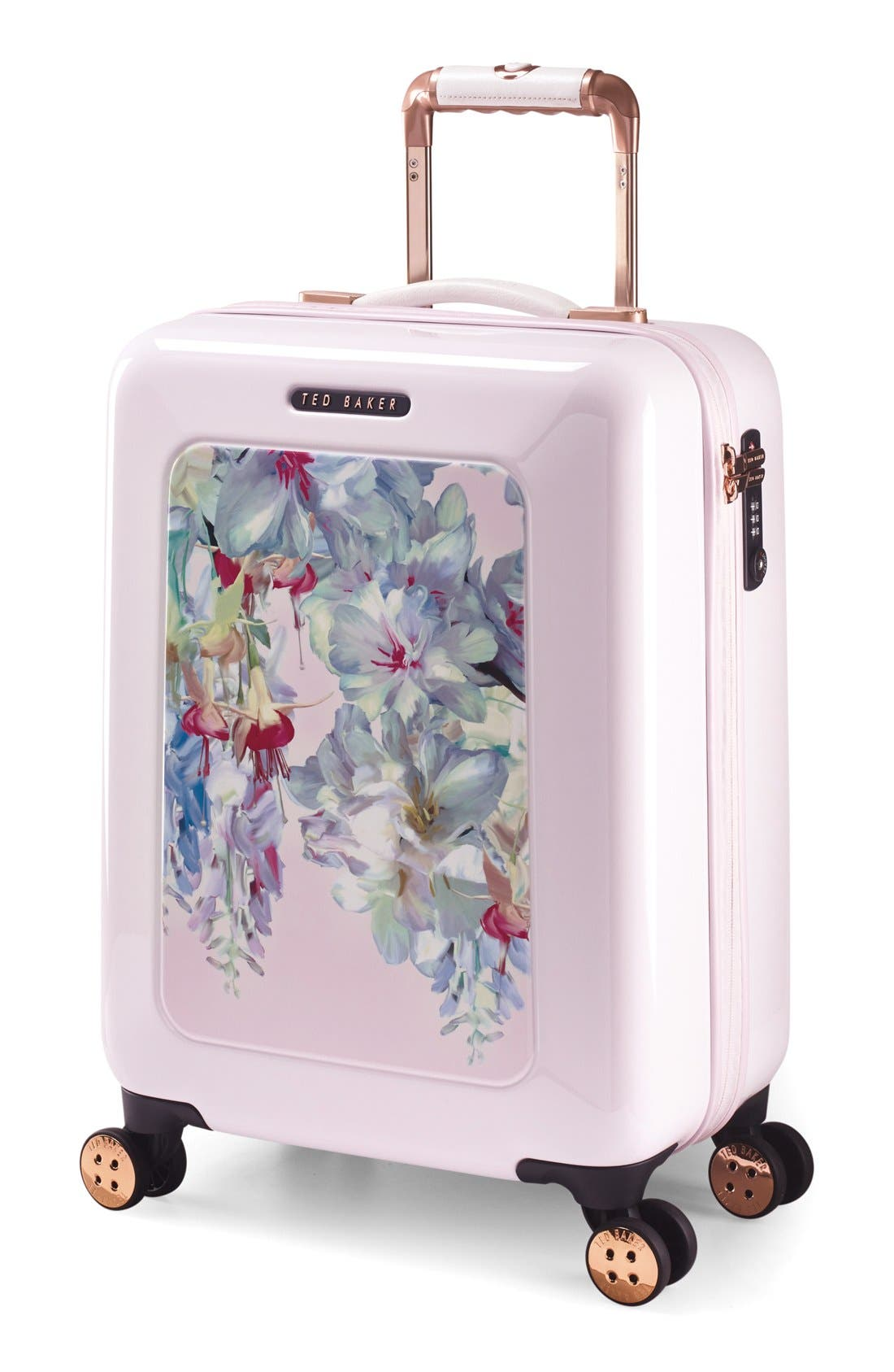 Small Hanging Gardens Four Wheel Suitcase,                             Alternate thumbnail 5, color,                             650