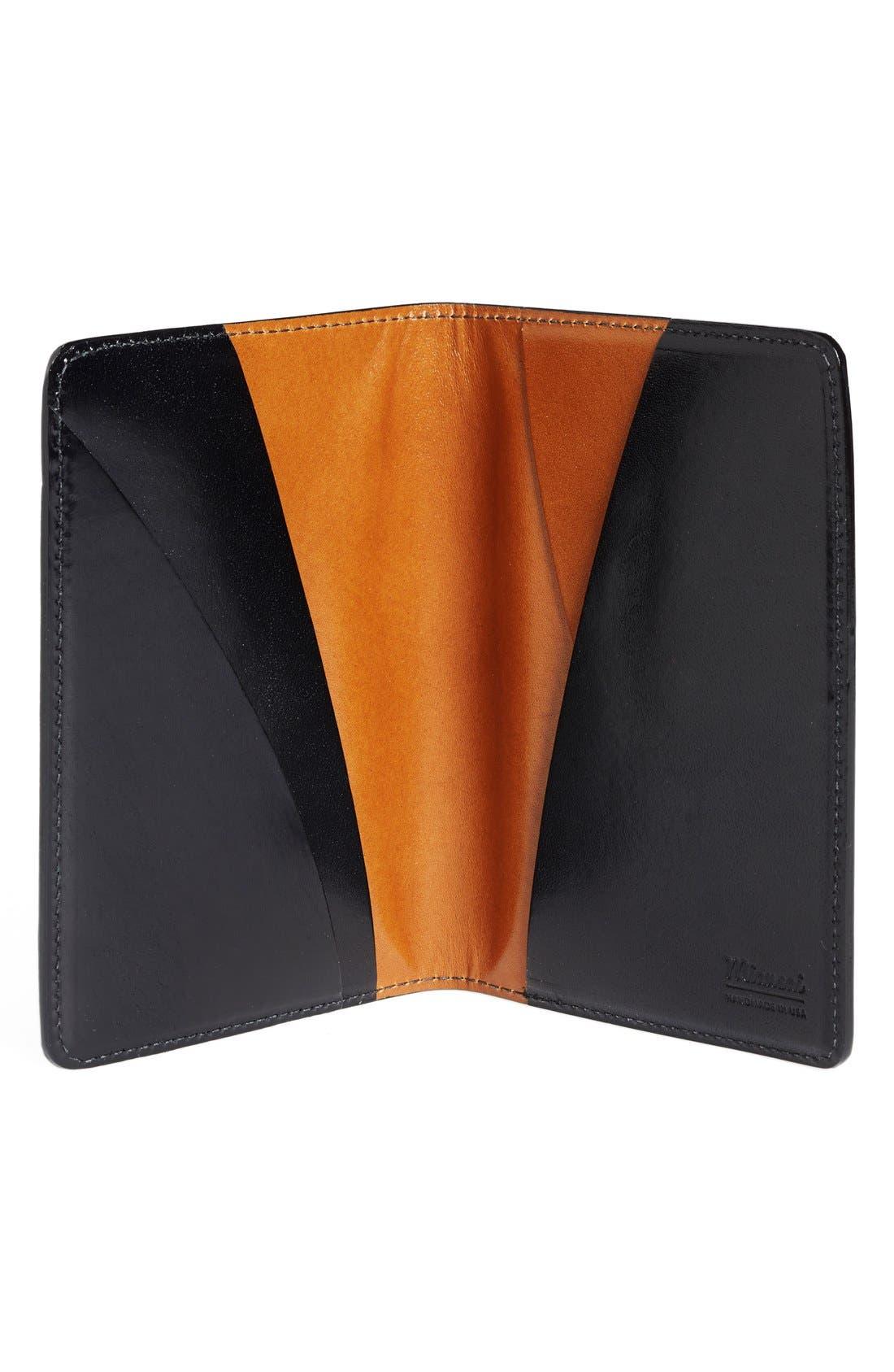 Leather Passport Wallet,                             Alternate thumbnail 3, color,                             005