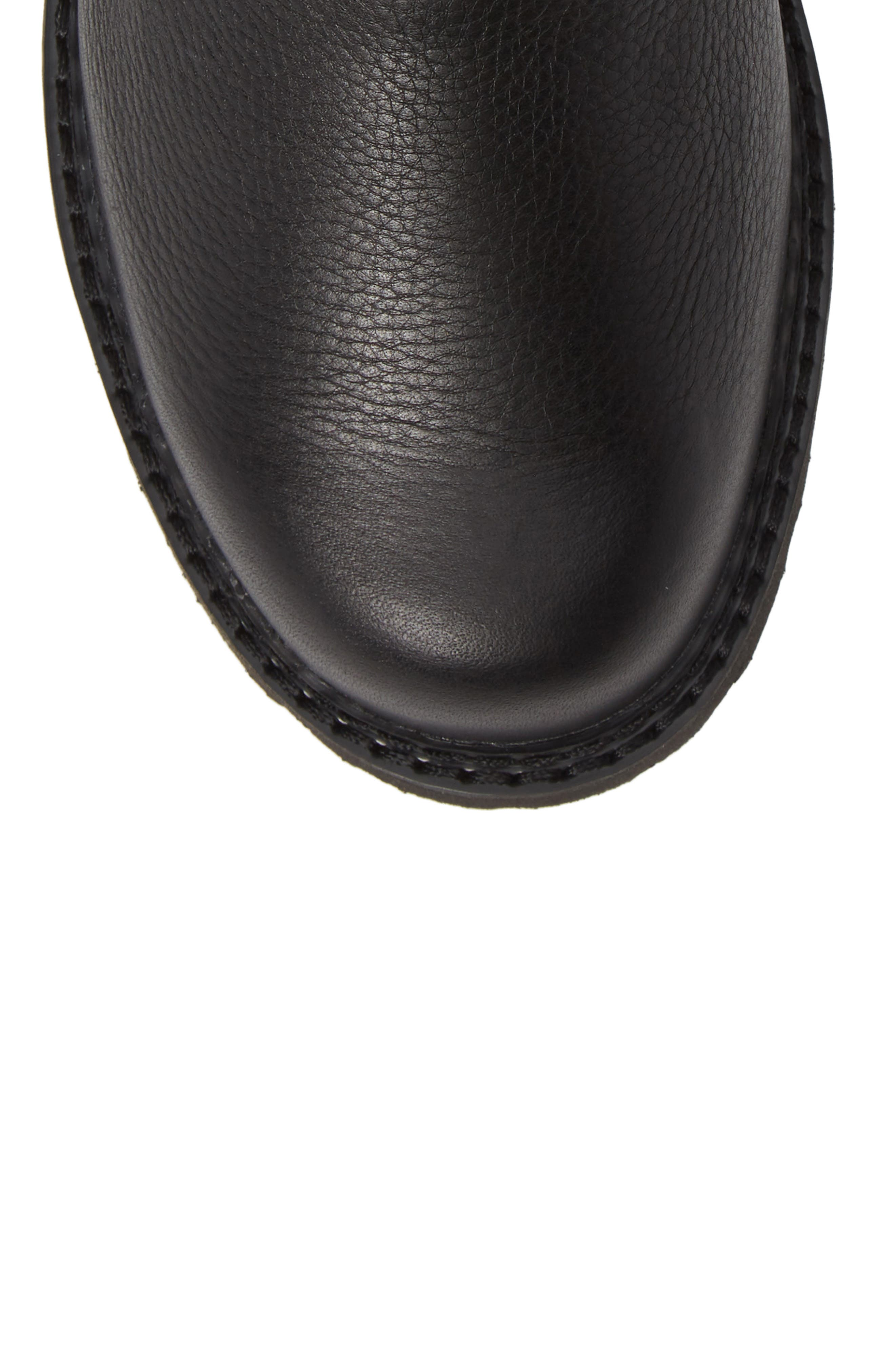 Spothog Chelsea Boot,                             Alternate thumbnail 5, color,                             BLACK DEER TAN LEATHER