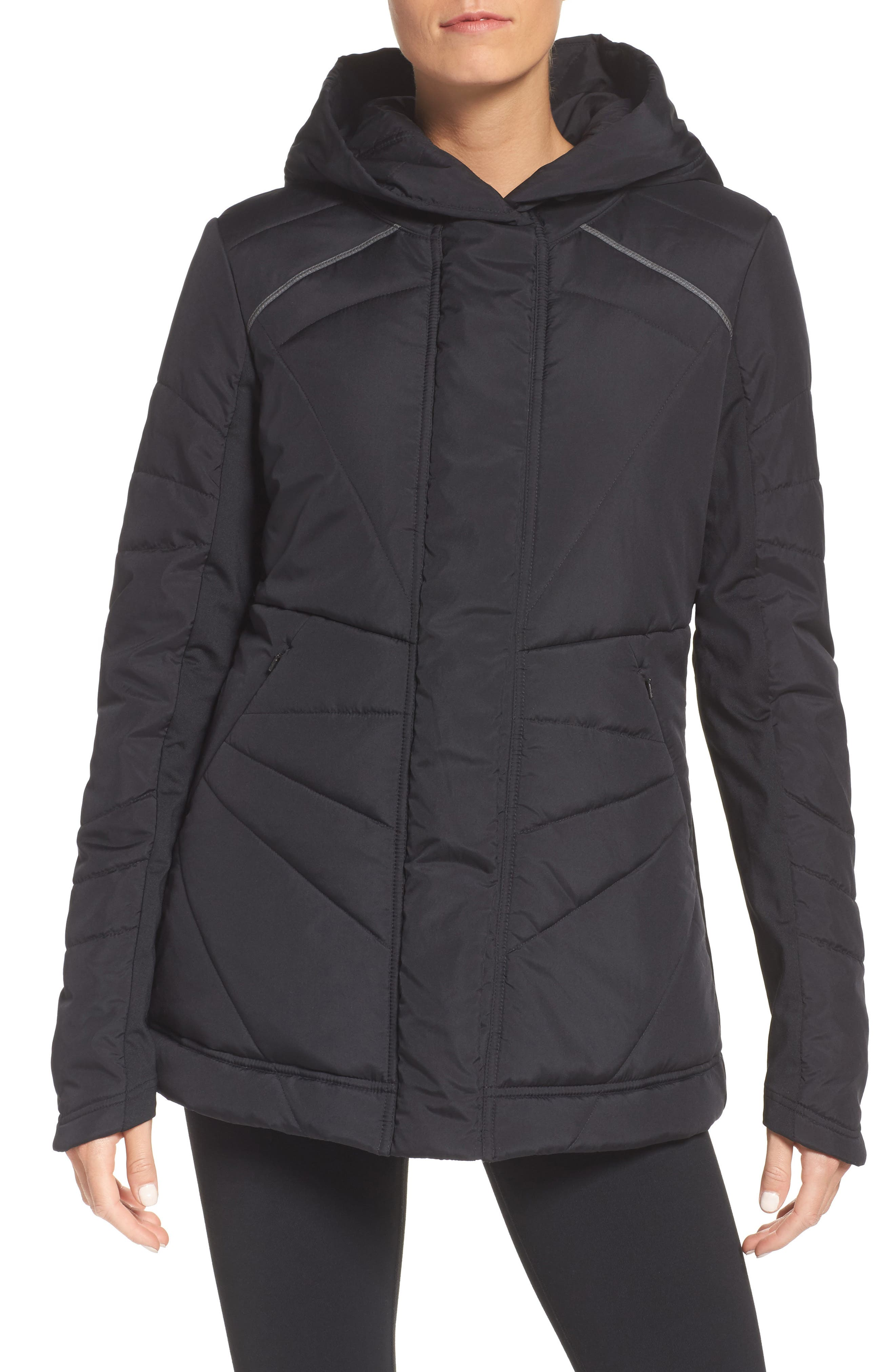 Beyond Hooded Puffer Jacket,                             Main thumbnail 1, color,                             001