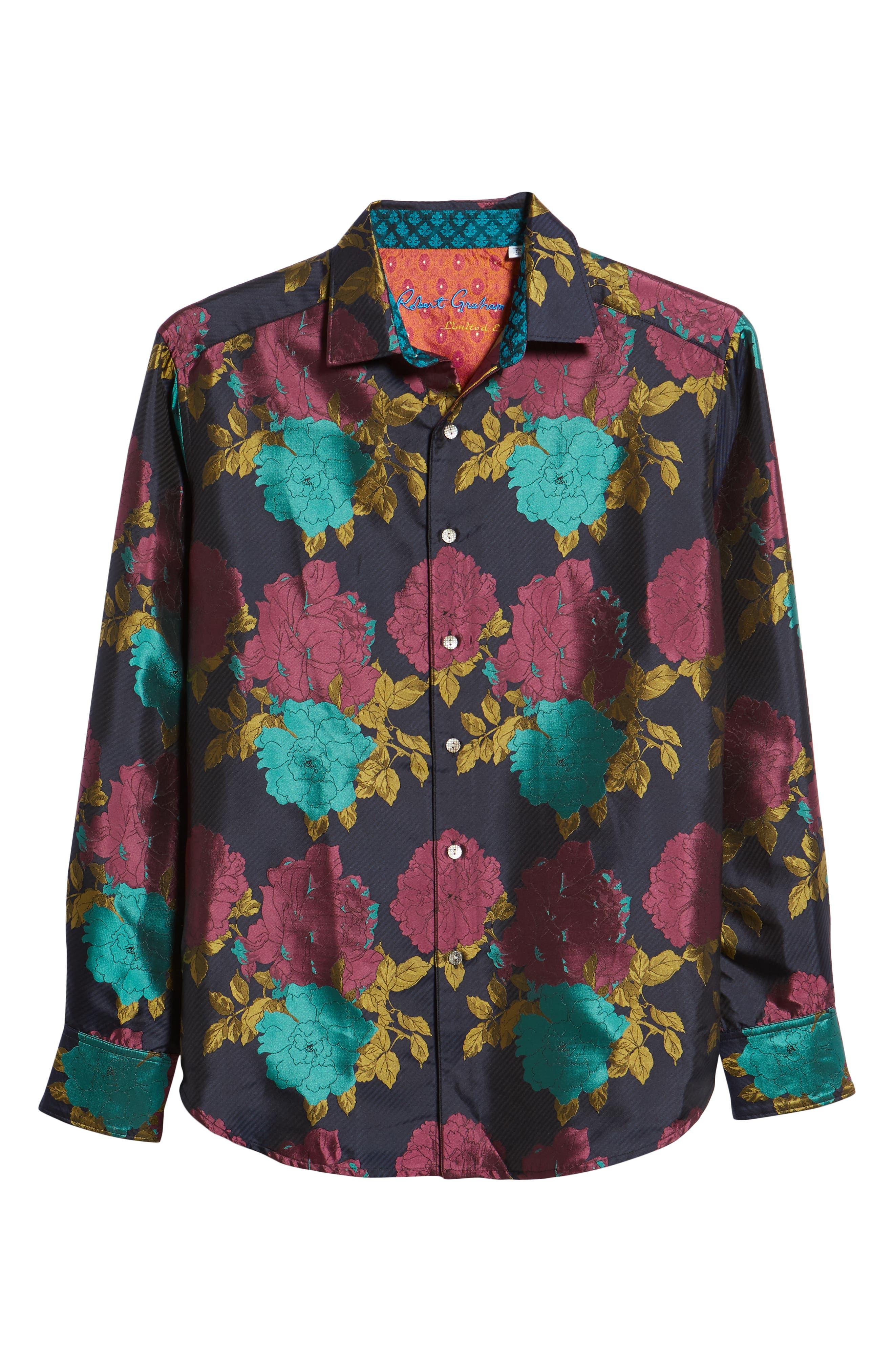 Tango Limited Edition Classic Fit Silk Sport Shirt,                             Alternate thumbnail 5, color,                             MULTI