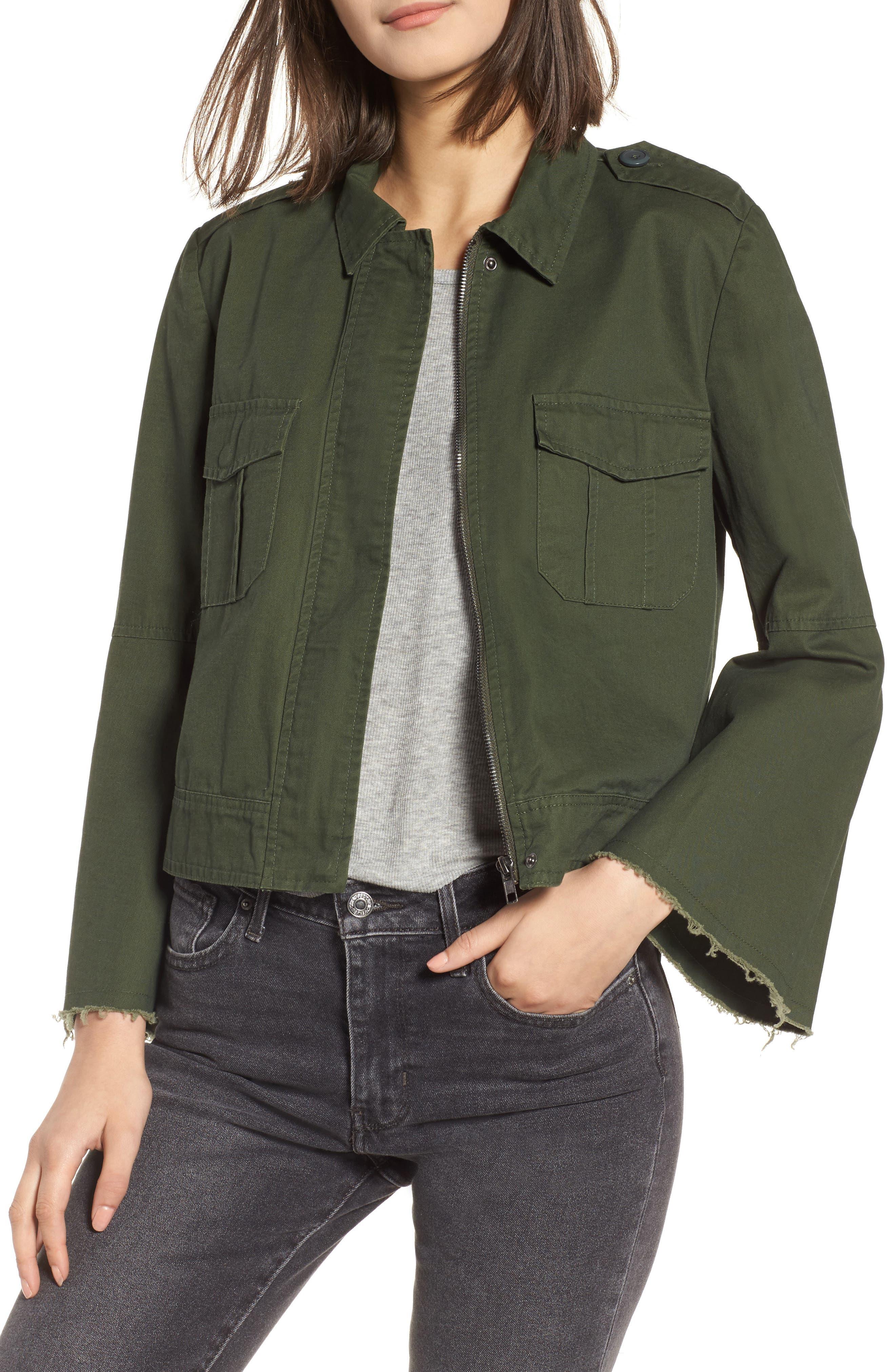 Jennie Cotton Twill Army Jacket,                             Main thumbnail 1, color,                             301