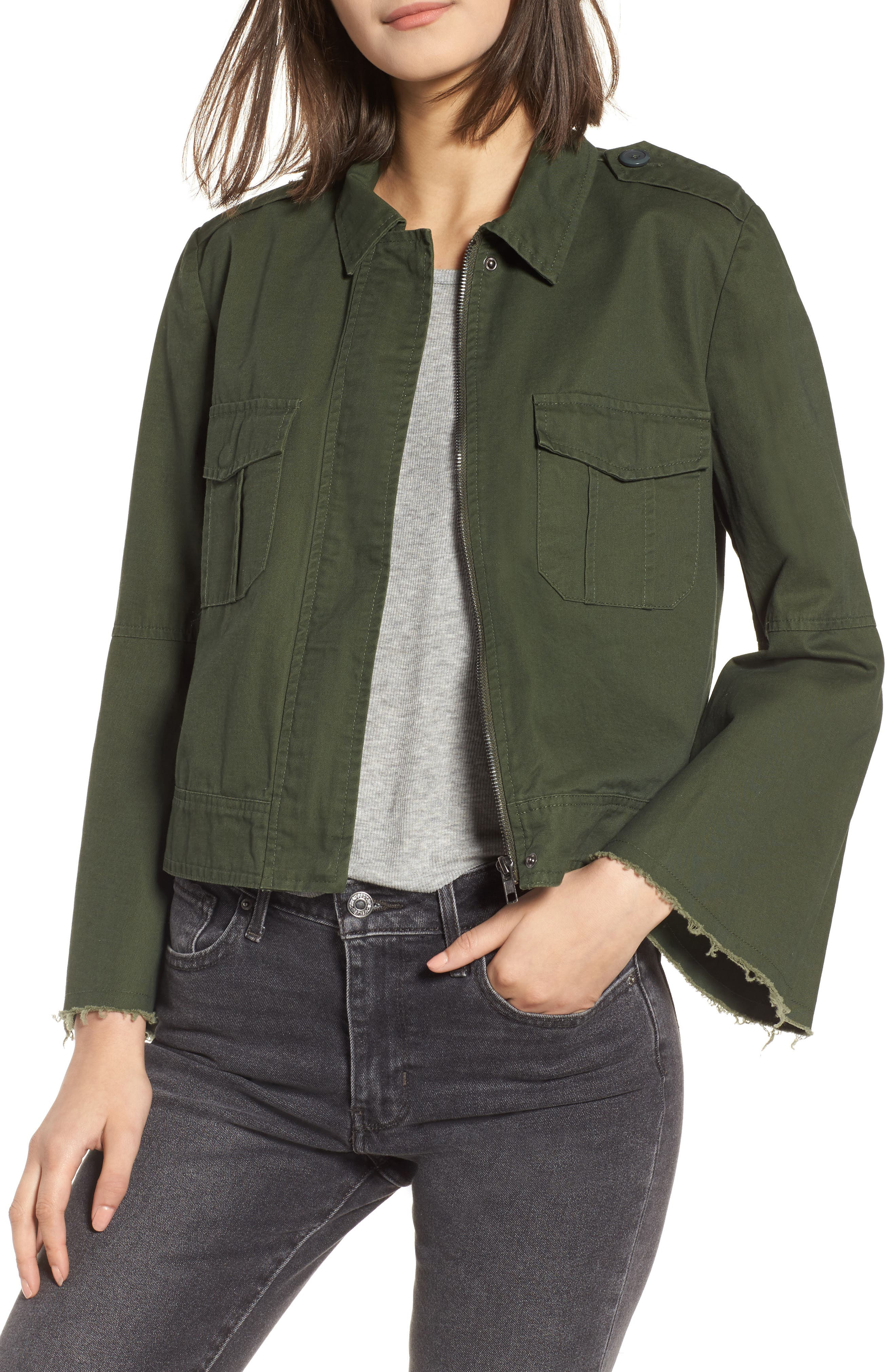 Jennie Cotton Twill Army Jacket, Main, color, 301