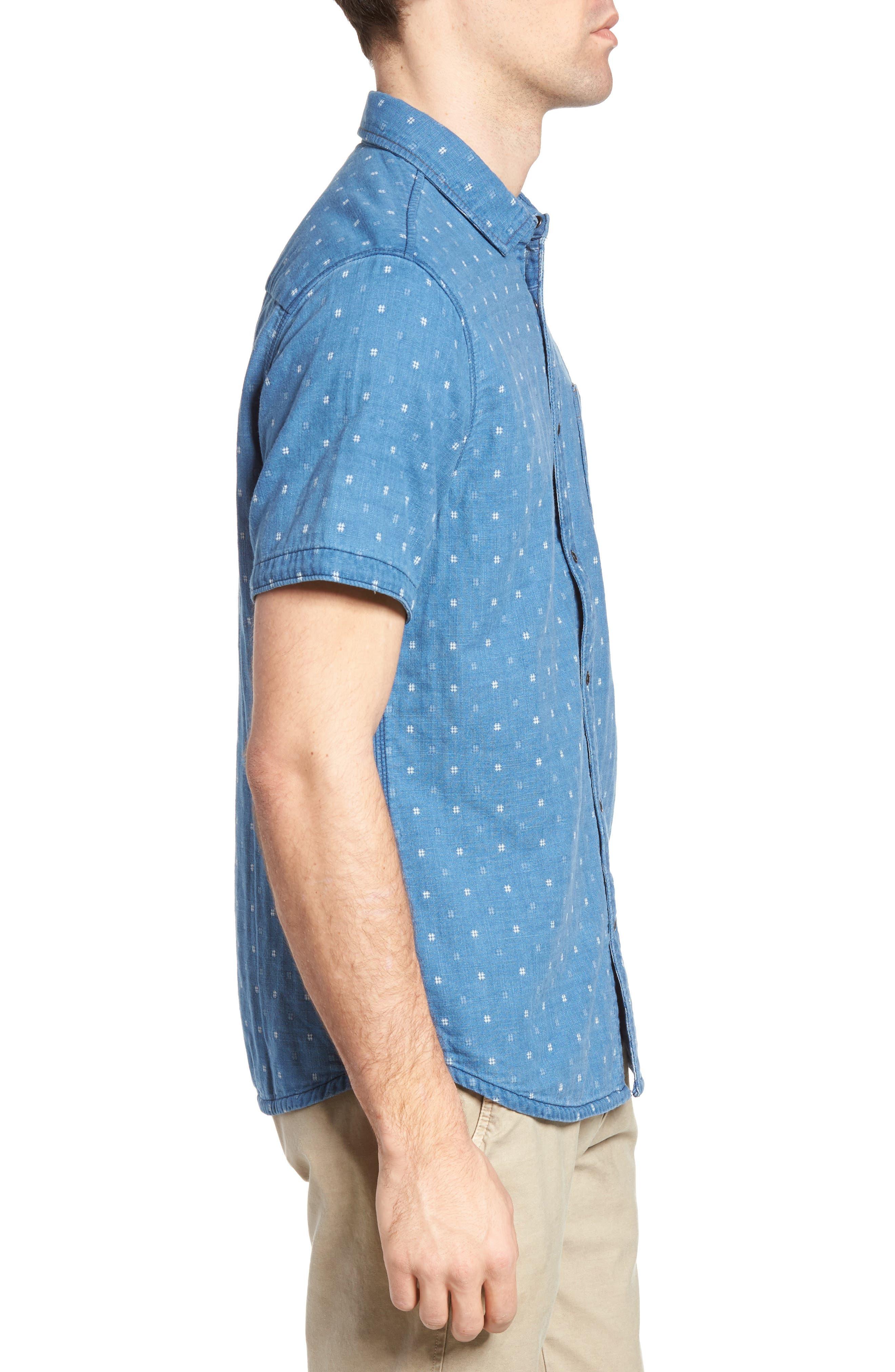 Kit Reversible Jacquard Sport Shirt,                             Alternate thumbnail 4, color,