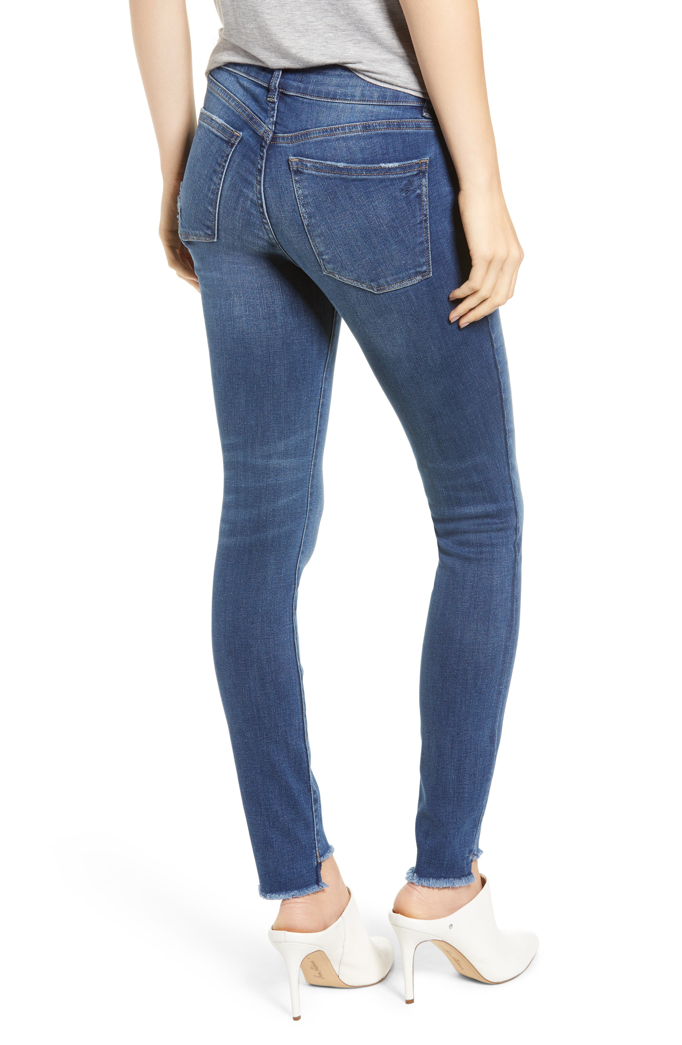 Florence Instasculpt High Waist Raw Step Hem Skinny Jeans,                             Alternate thumbnail 2, color,                             405
