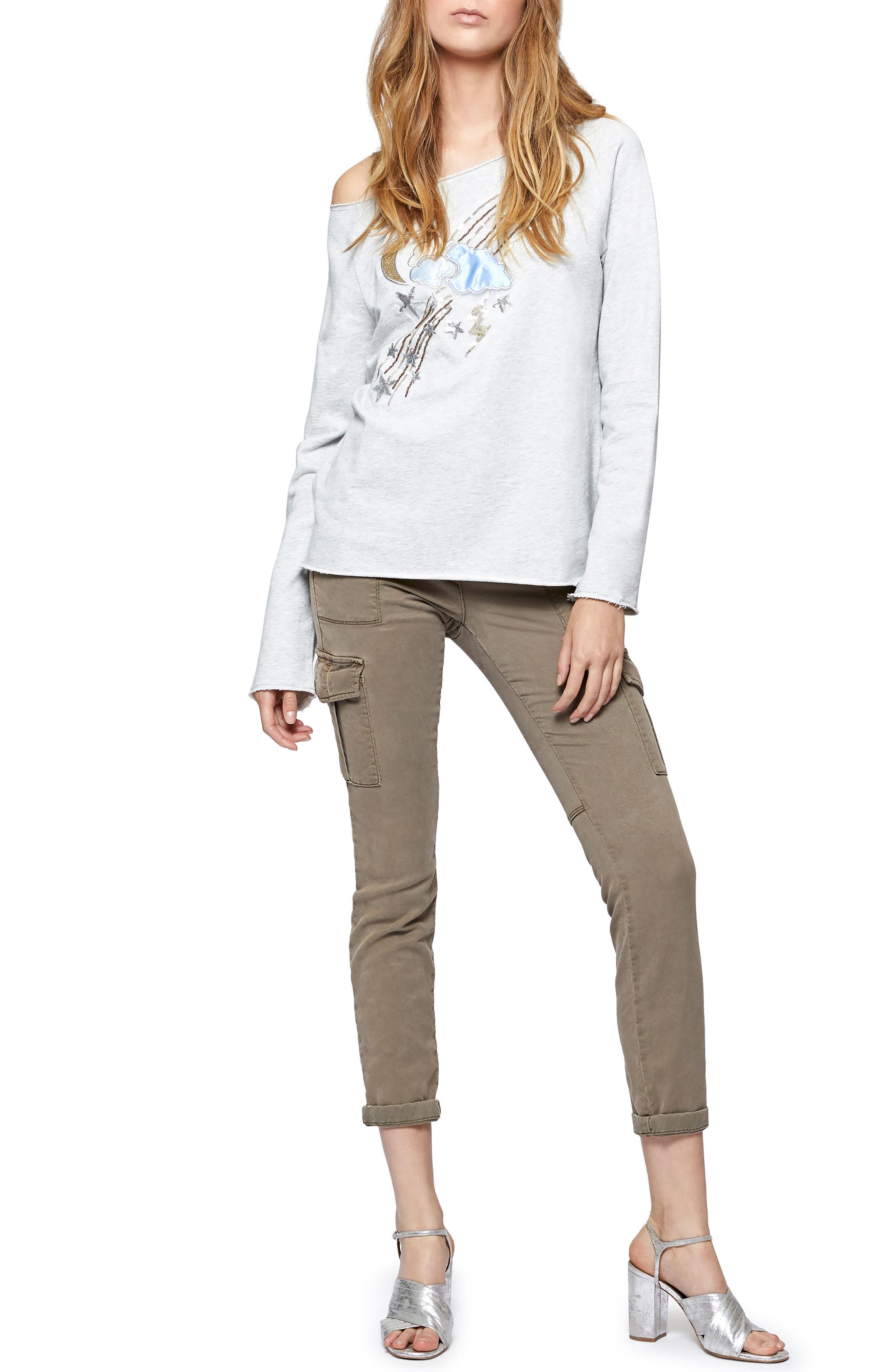 Galaxy Sequin Sweatshirt,                             Alternate thumbnail 3, color,                             050