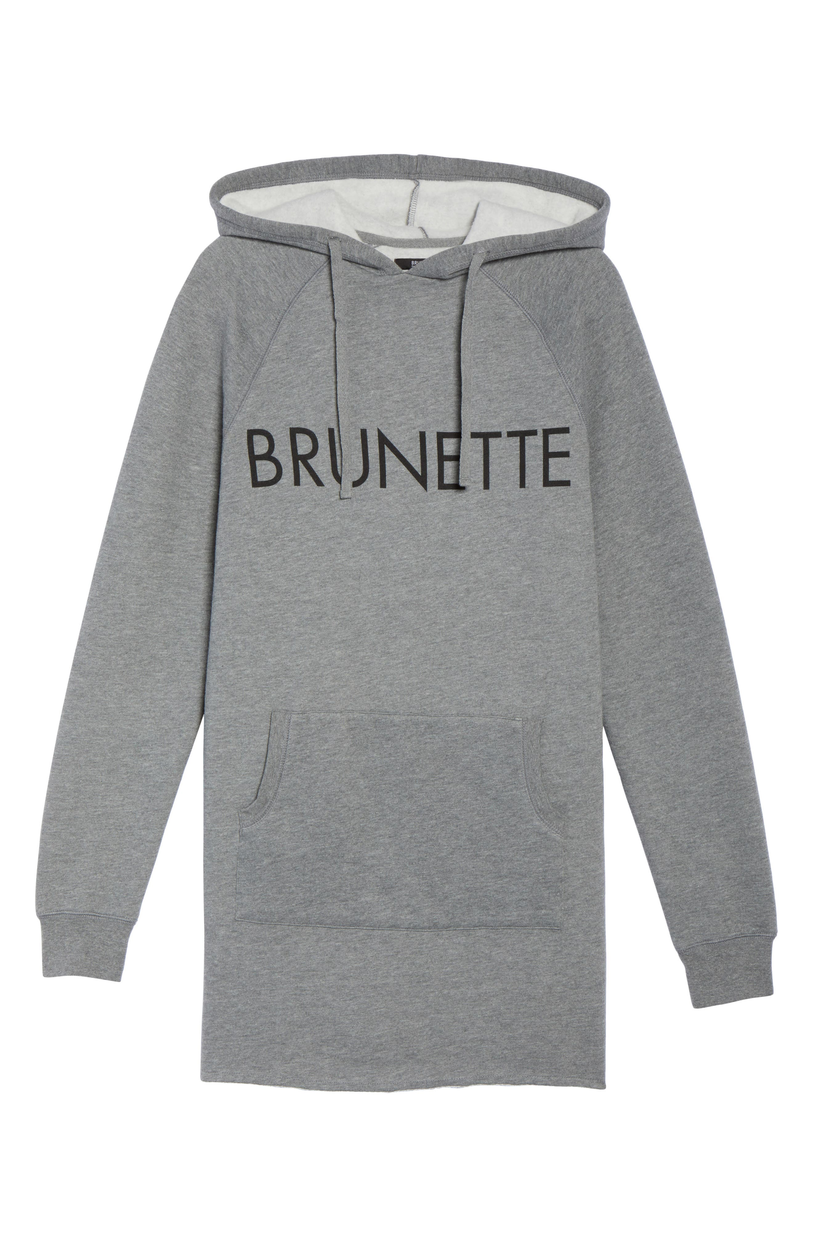 Brunette Sweatshirt Dress,                             Alternate thumbnail 6, color,                             020
