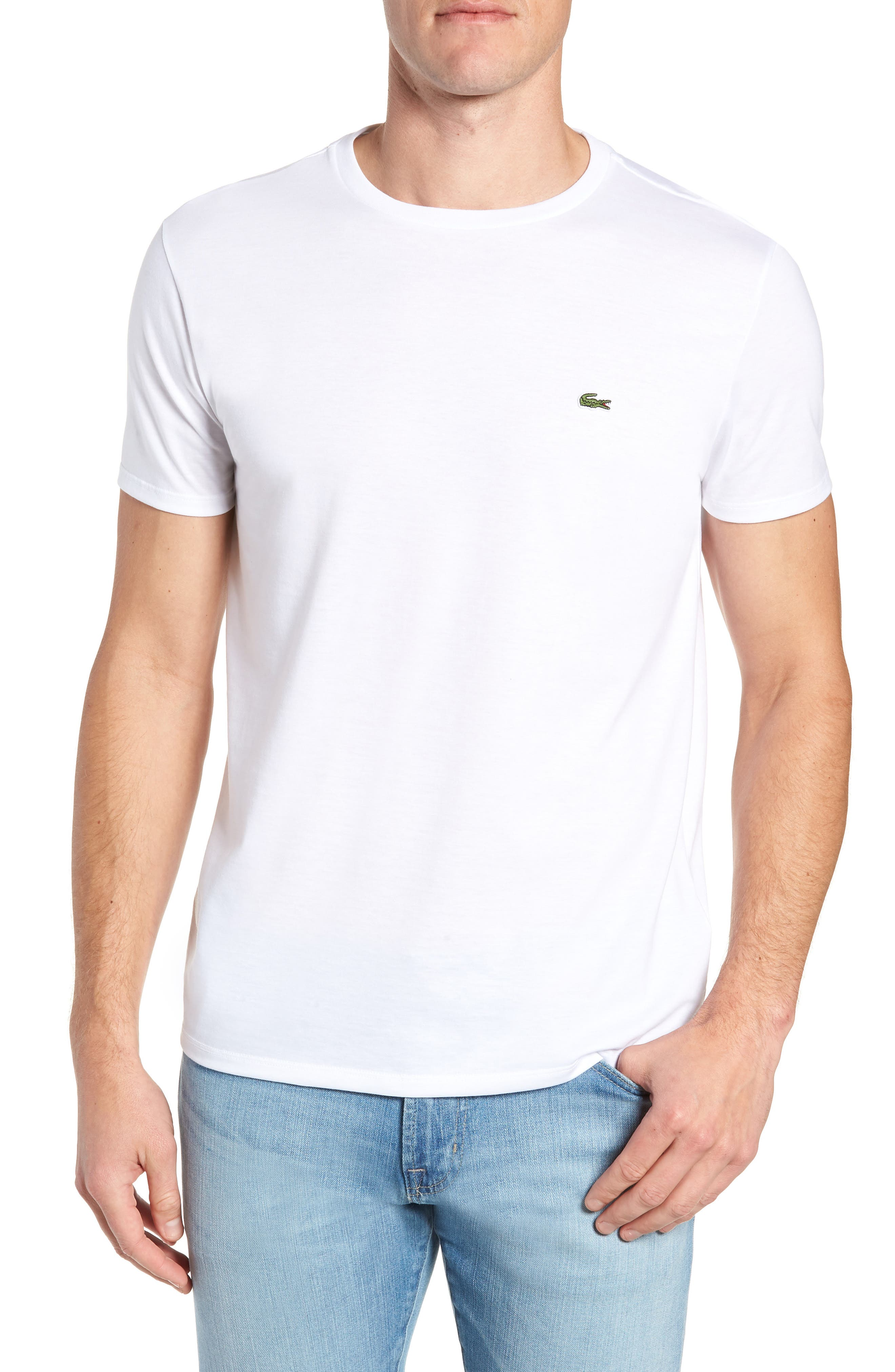 Pima Cotton T-Shirt,                         Main,                         color, WHITE