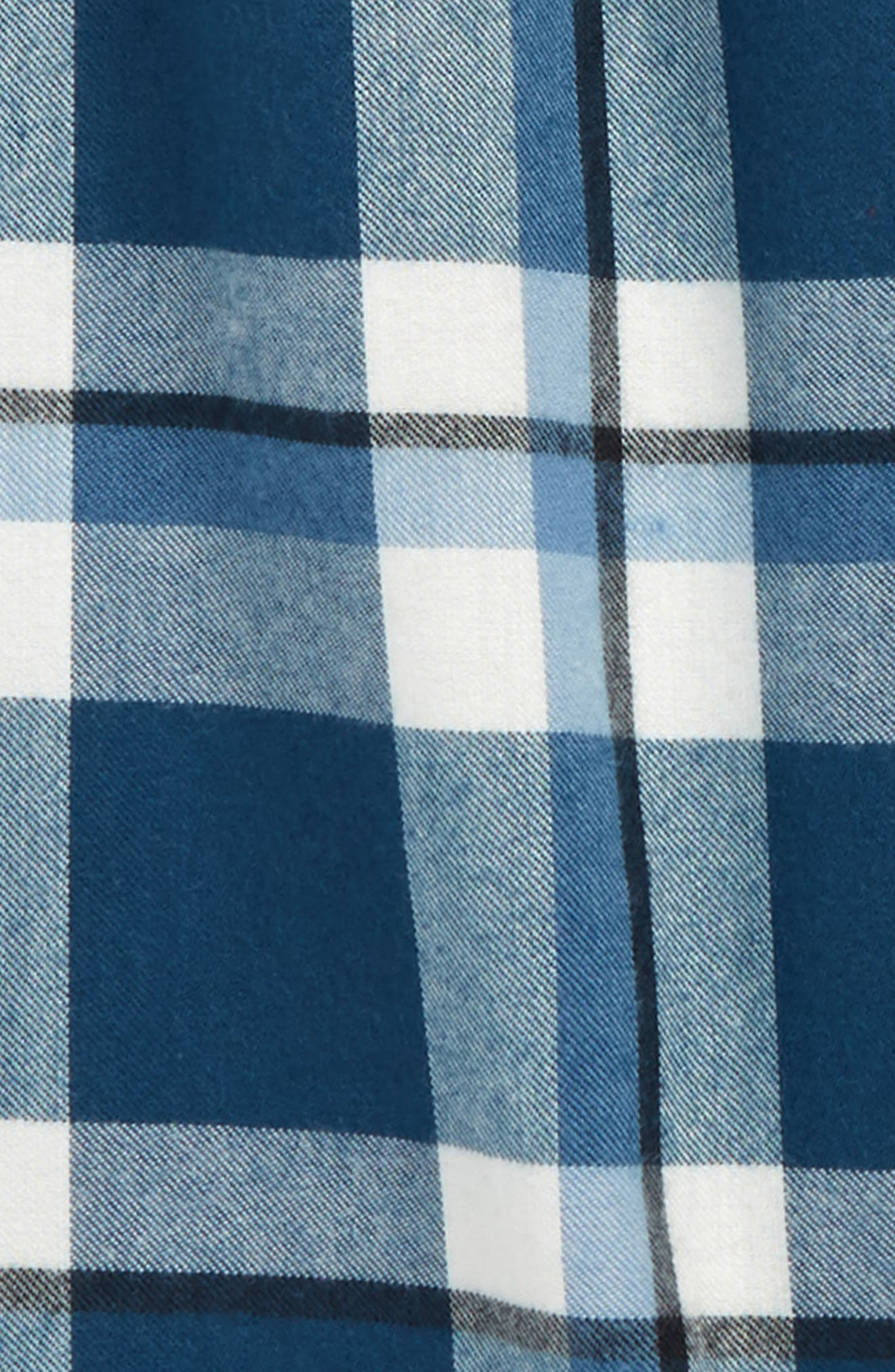Plaid Flannel Pants,                             Alternate thumbnail 2, color,                             BLUE WING- IVORY PLAID