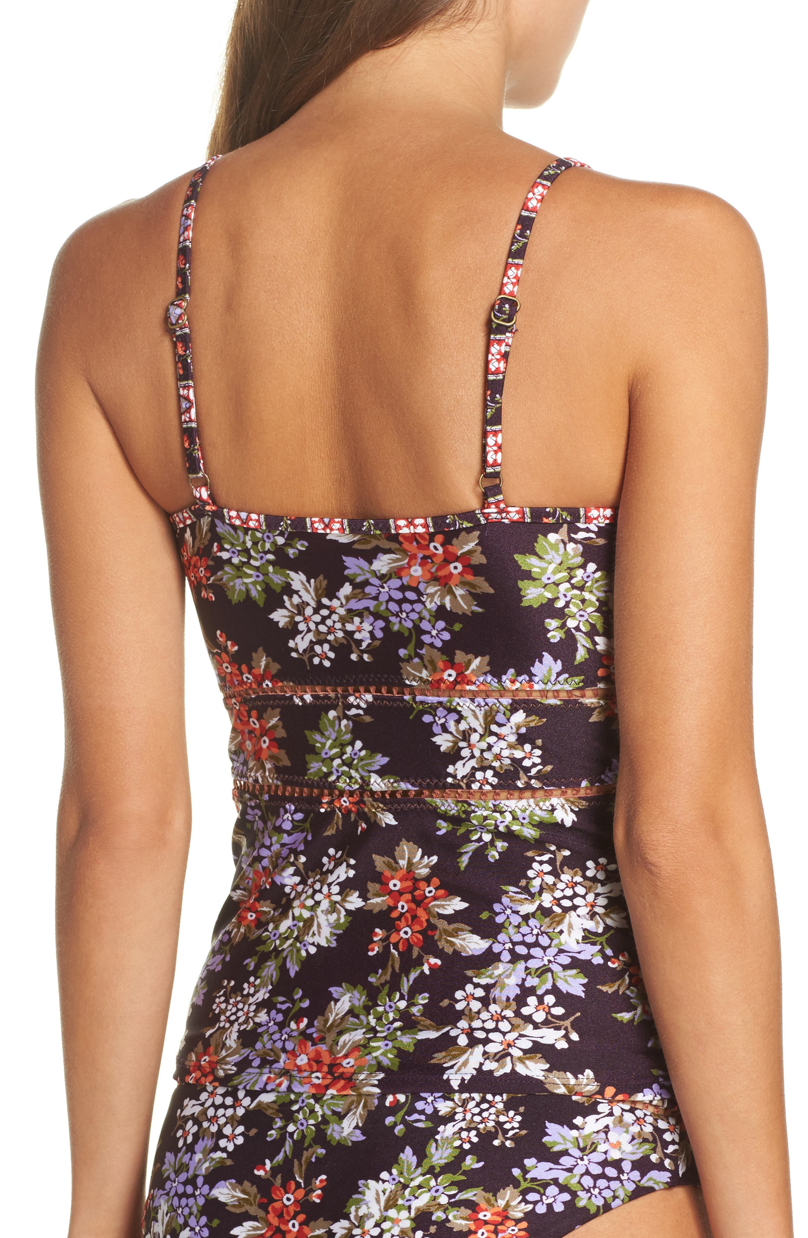 Floral Cottage Tankini Top,                             Alternate thumbnail 2, color,                             502