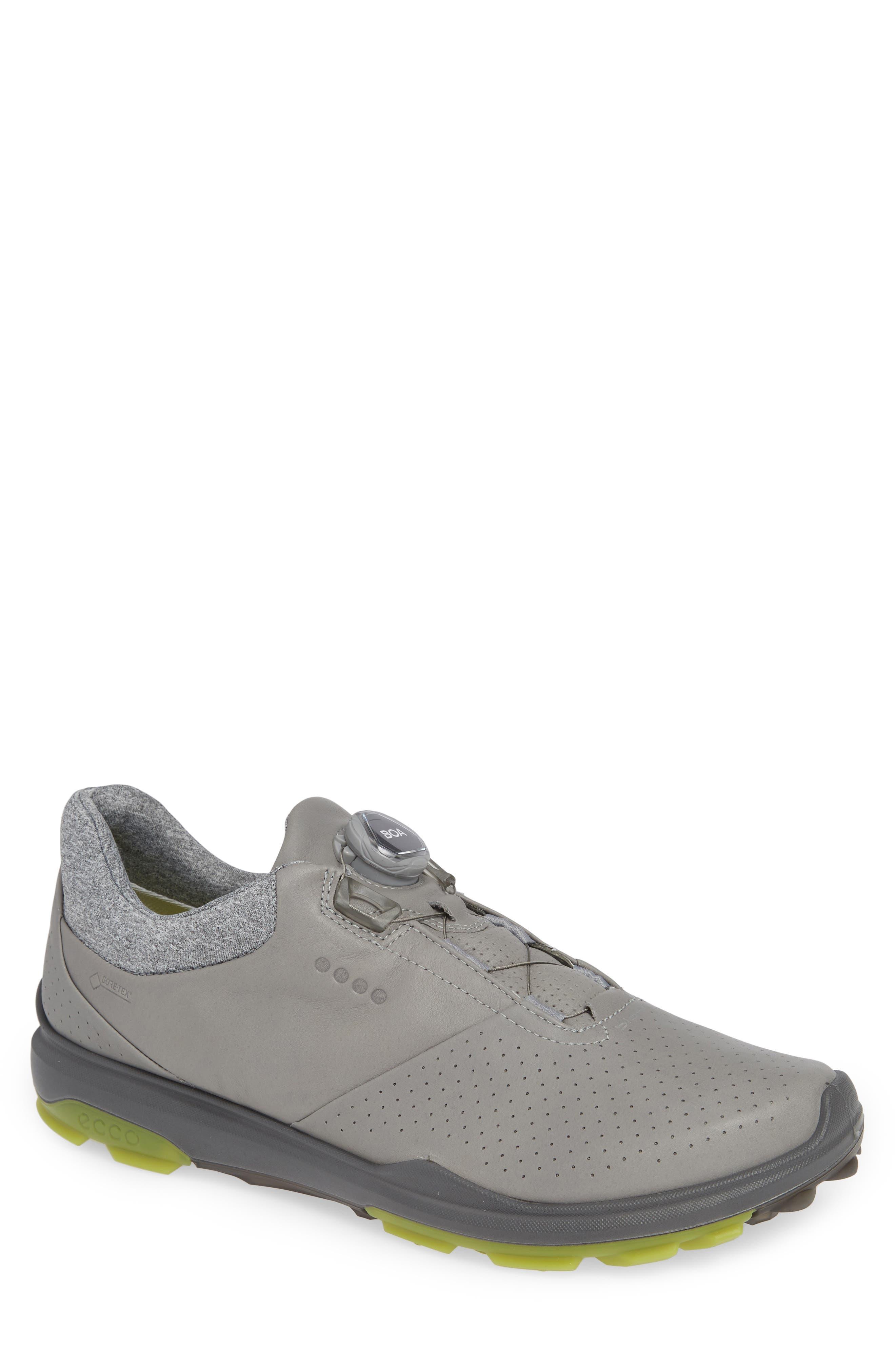 ECCO BIOM Hybrid 3 Gore-Tex<sup>®</sup> Golf Shoe, Main, color, WILD DOVE/ KIWI LEATHER