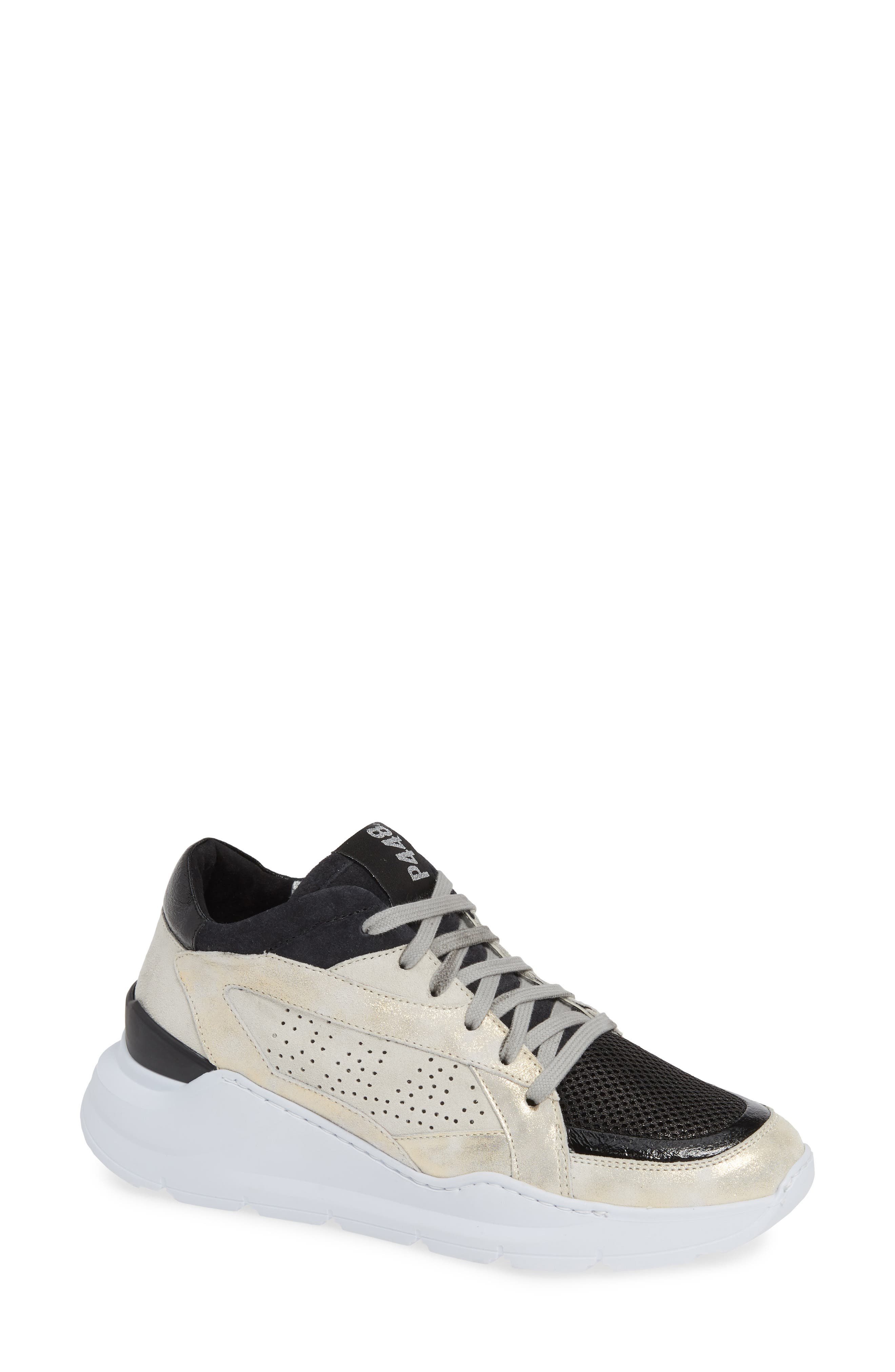 P448 Leia Sneaker in White Suede