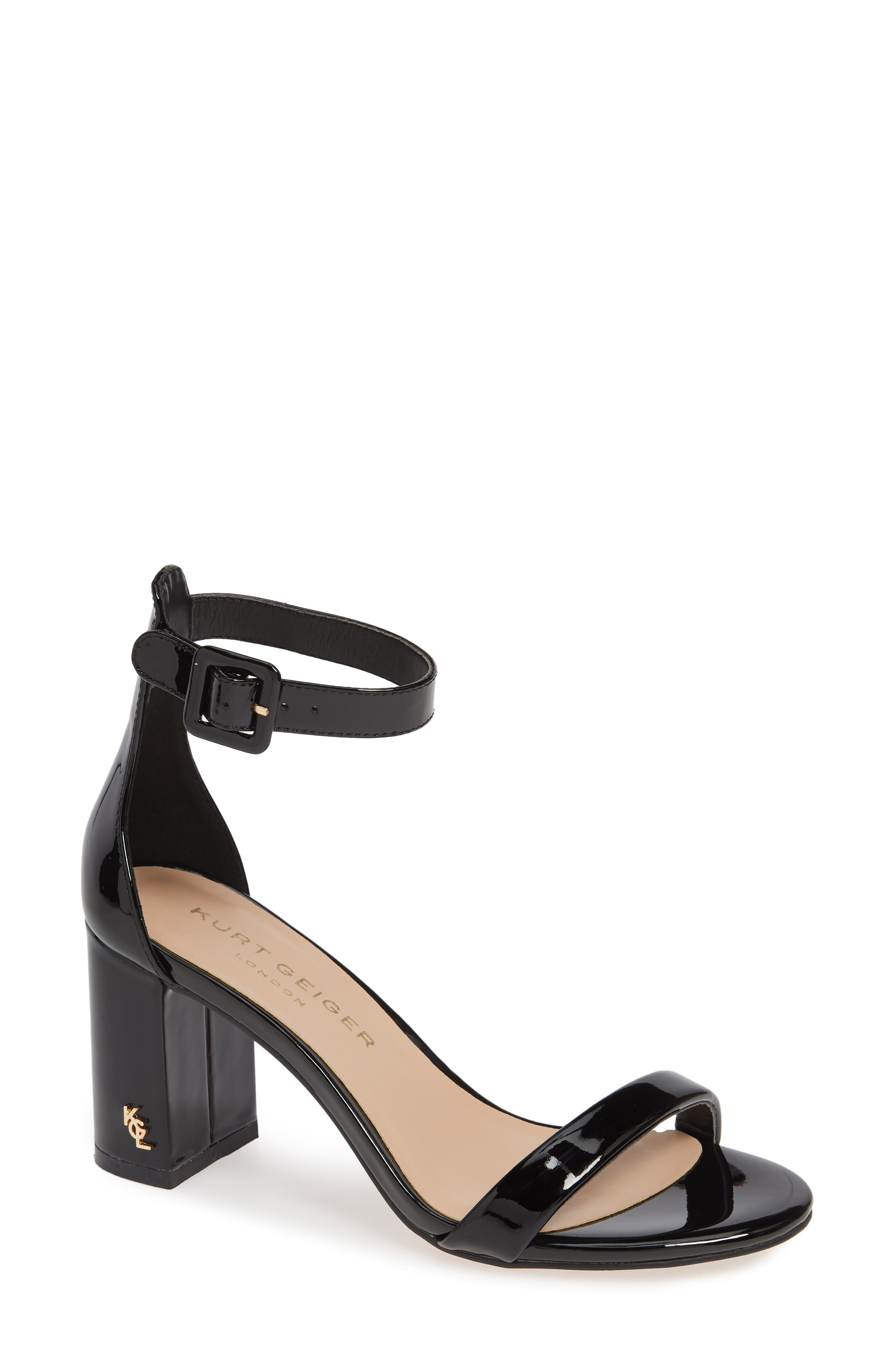 Langley Ankle Strap Sandal,                             Main thumbnail 1, color,                             BLACK LEATHER