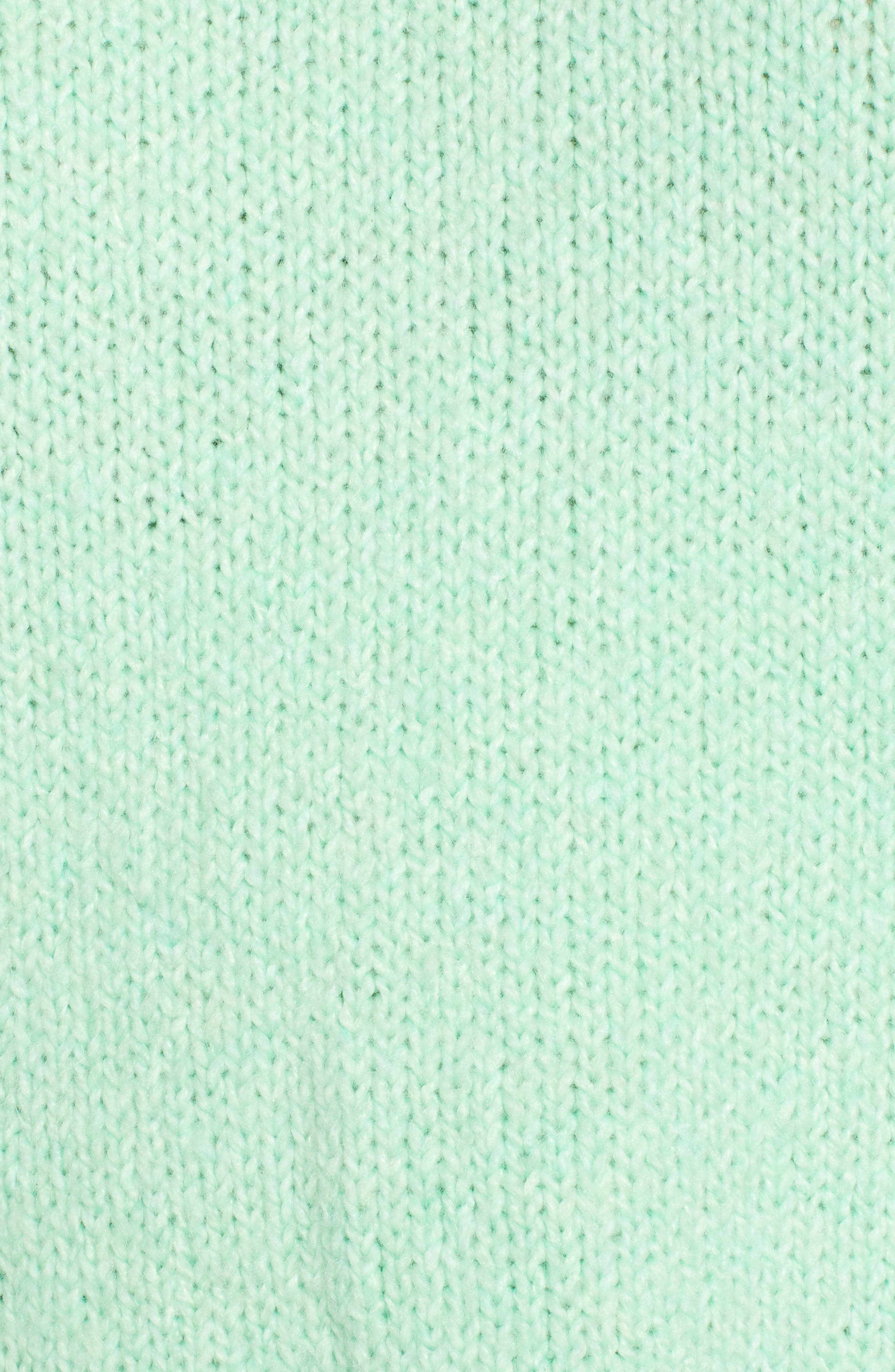 High-Low Sweater,                             Alternate thumbnail 5, color,                             GREEN ASH