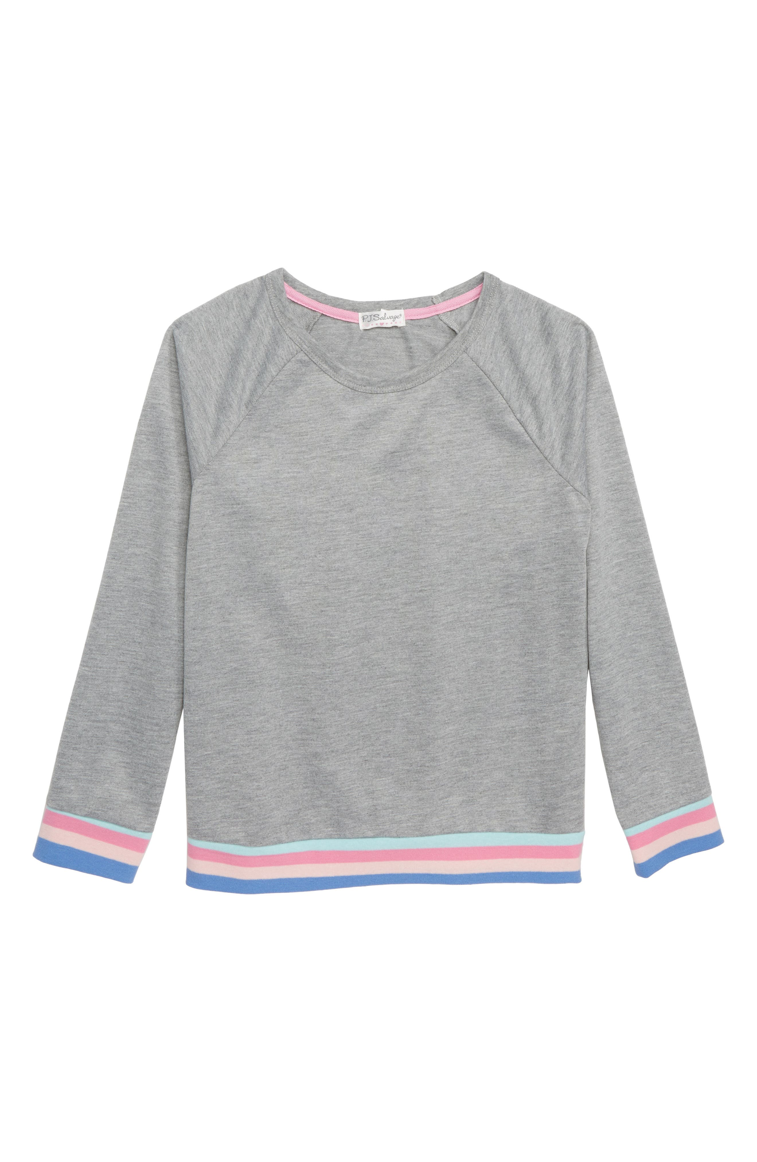 Girl Power Pajama Top,                             Main thumbnail 1, color,                             H GREY