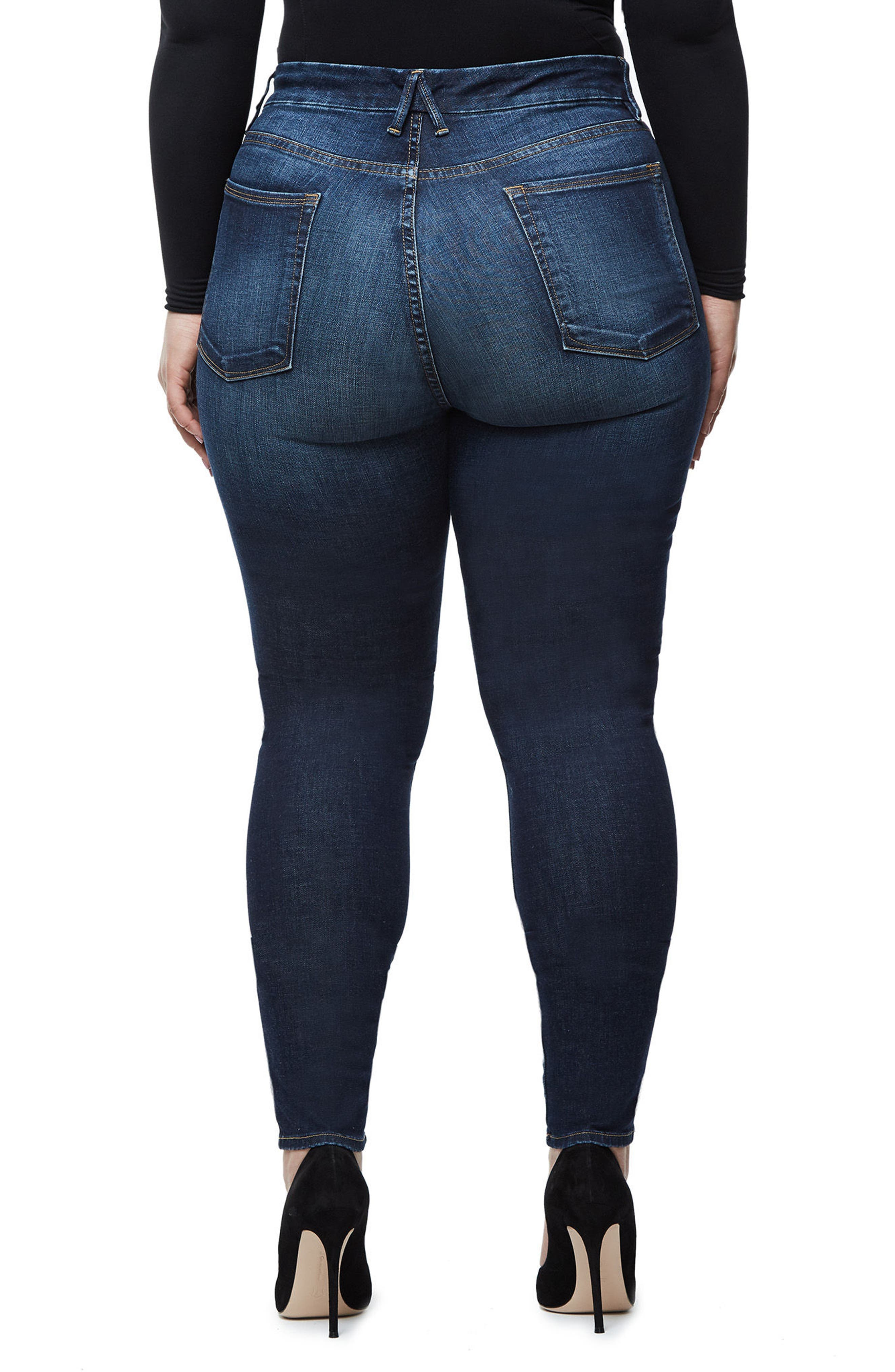 Good Waist High Waist Skinny Jeans,                             Alternate thumbnail 6, color,