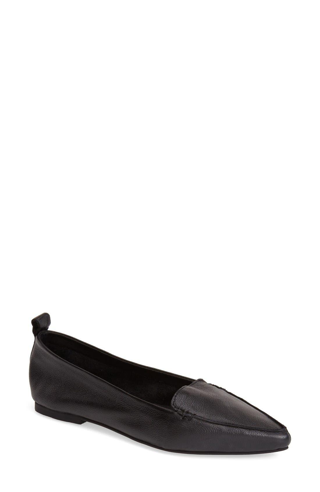 JEFFREY CAMPBELL 'Vionnet' Pointy Toe Flat, Main, color, 001