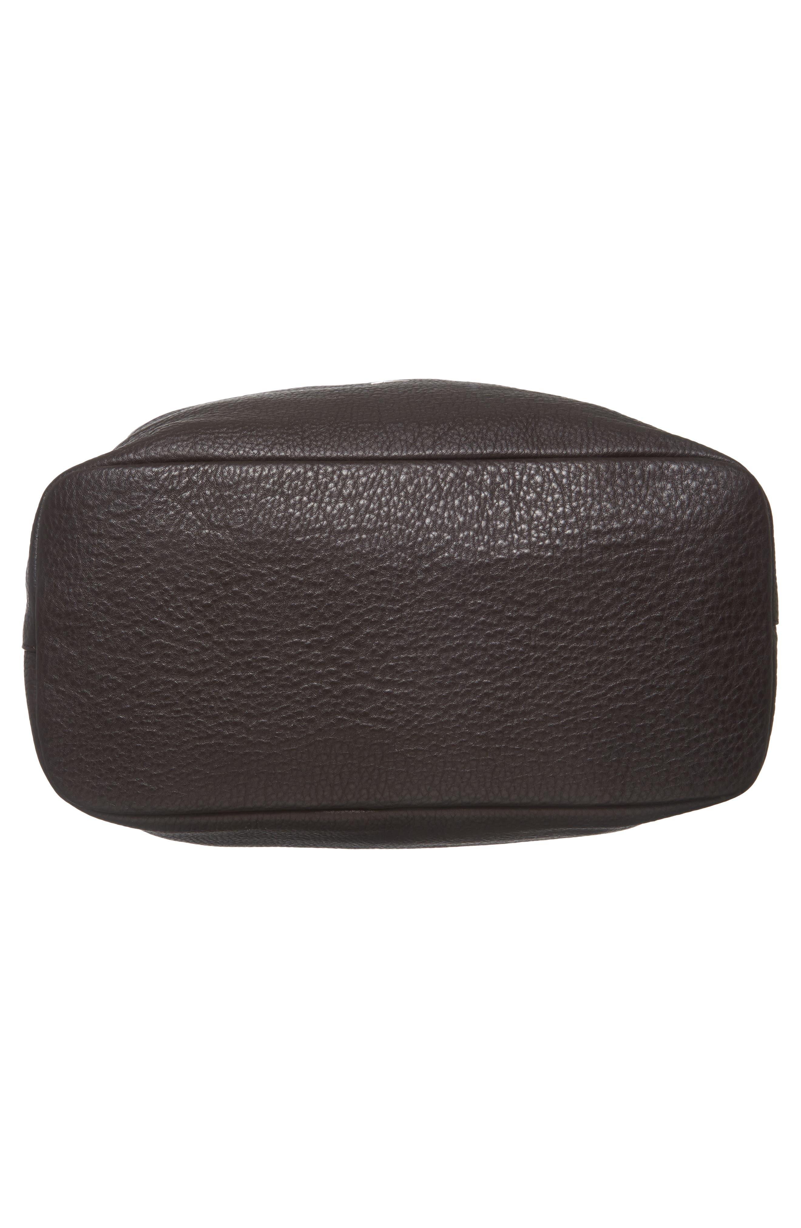 Relaxed Calfskin Leather Hobo Bag,                             Alternate thumbnail 6, color,                             240