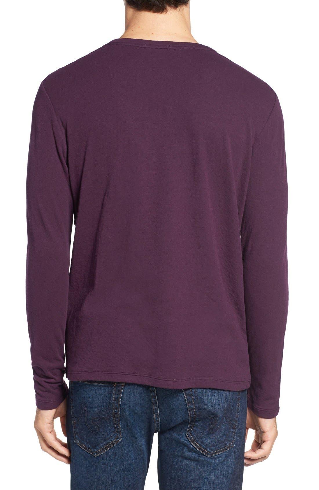 Long Sleeve Crewneck T-Shirt,                             Alternate thumbnail 8, color,