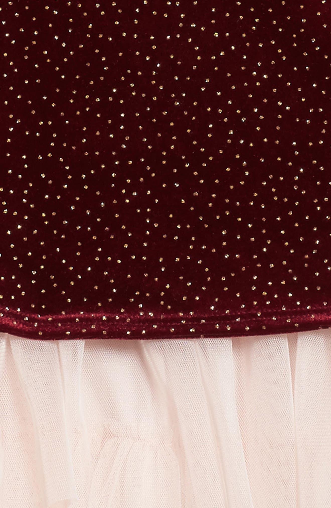 Velvet Top & Tank Dress,                             Alternate thumbnail 3, color,