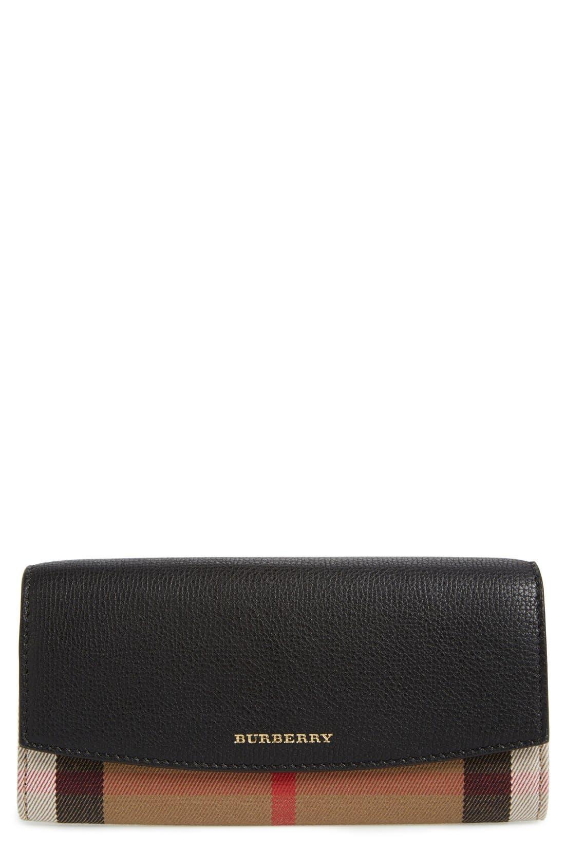 'Porter' Continental Wallet,                             Main thumbnail 1, color,                             BLACK GLD HRDWRE