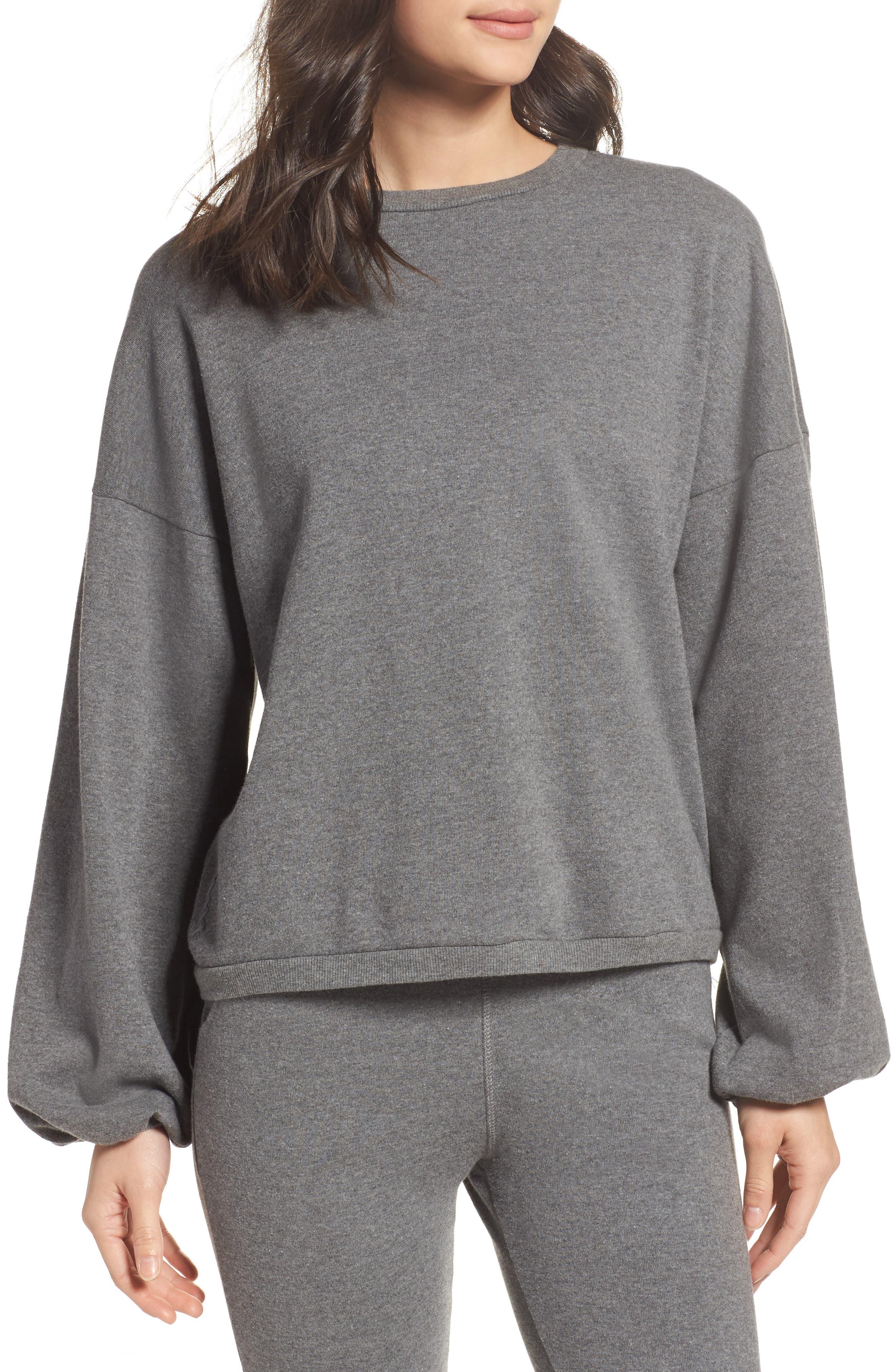 Puff Sleeve Sweatshirt,                         Main,                         color, 020