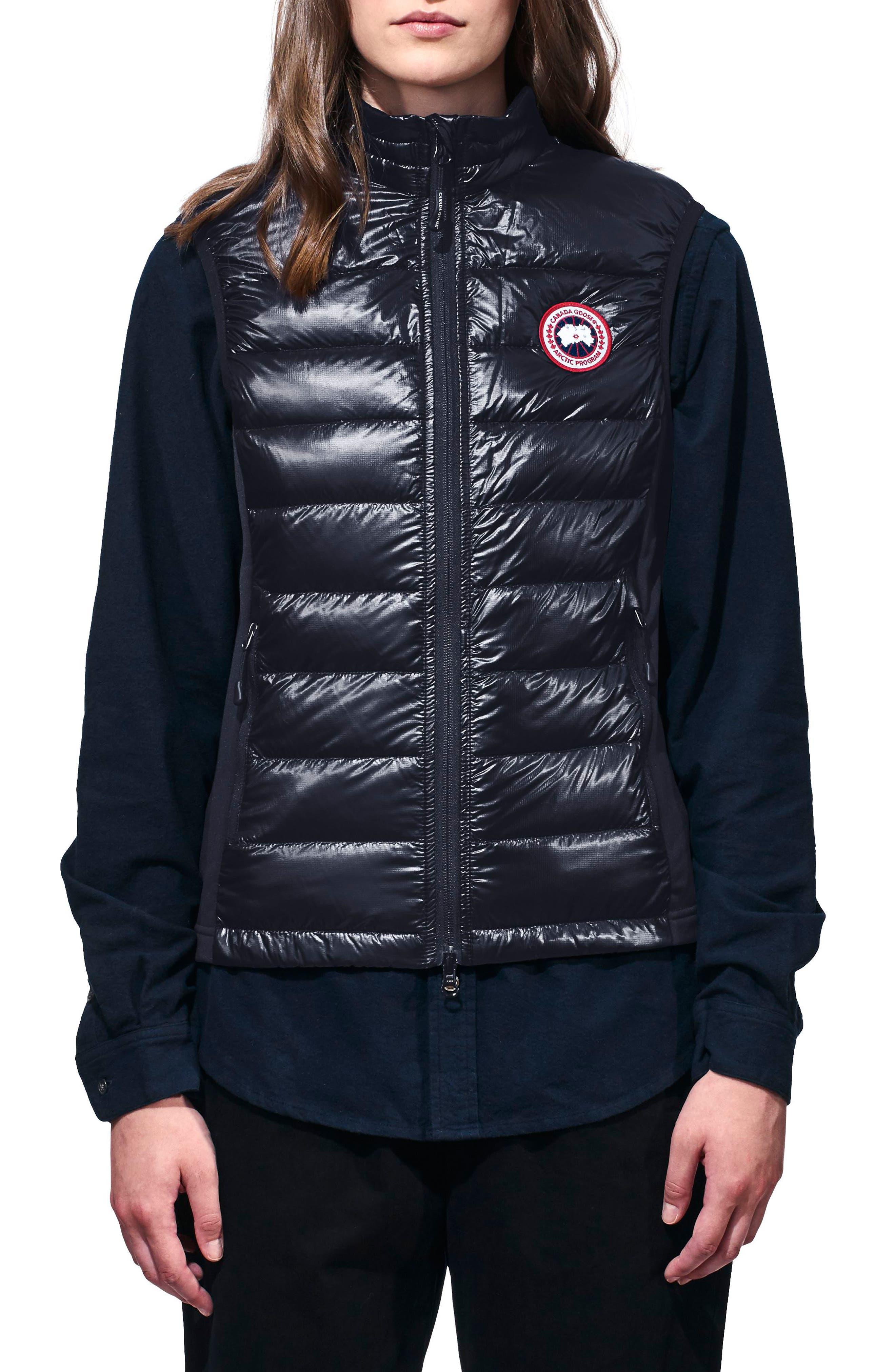 'Hybridge Lite' Slim Fit Packable Down Vest,                             Main thumbnail 1, color,                             BLUE/ BLACK