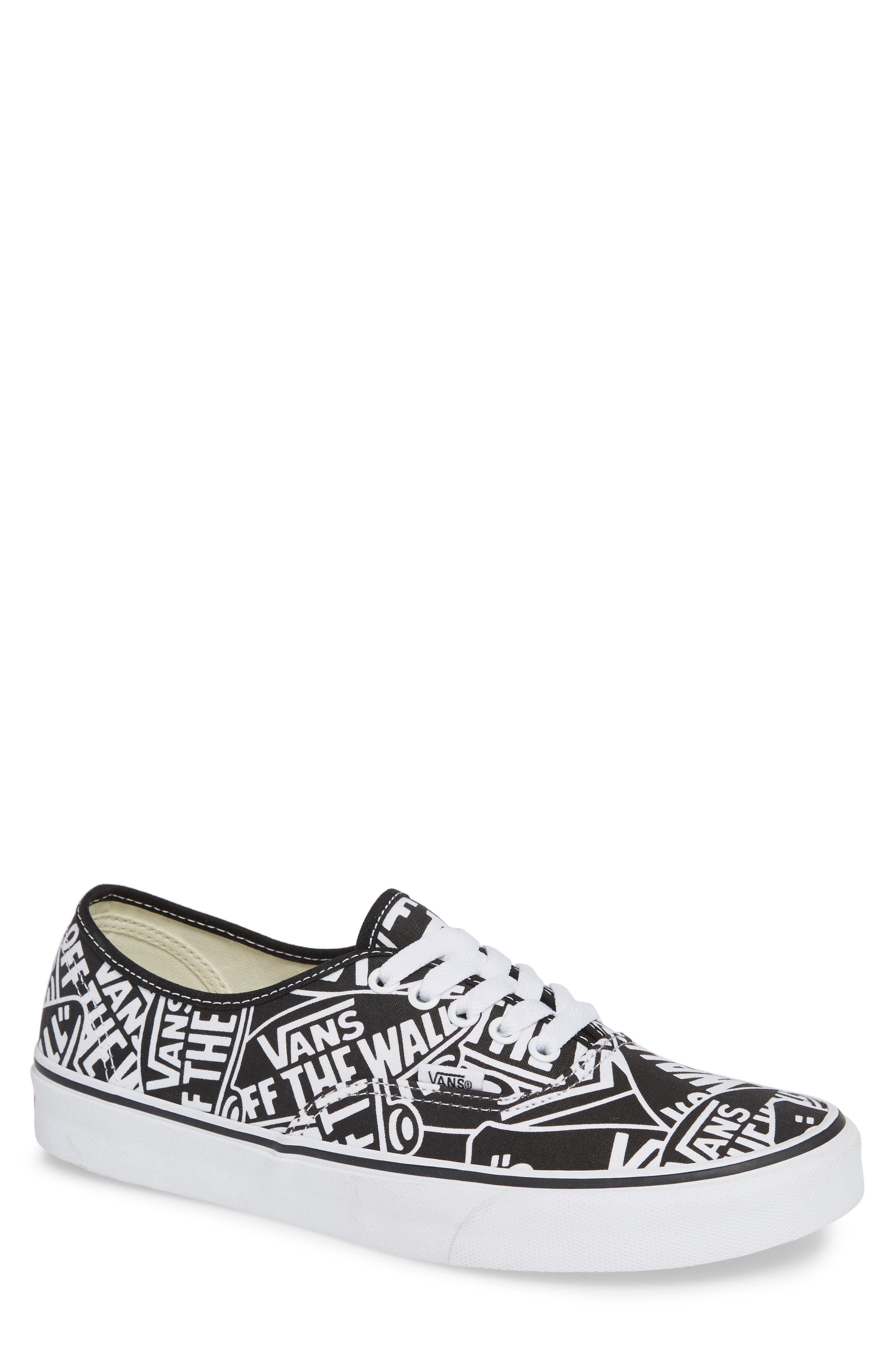 Authentic Sneaker,                         Main,                         color, BLACK/ WHITE