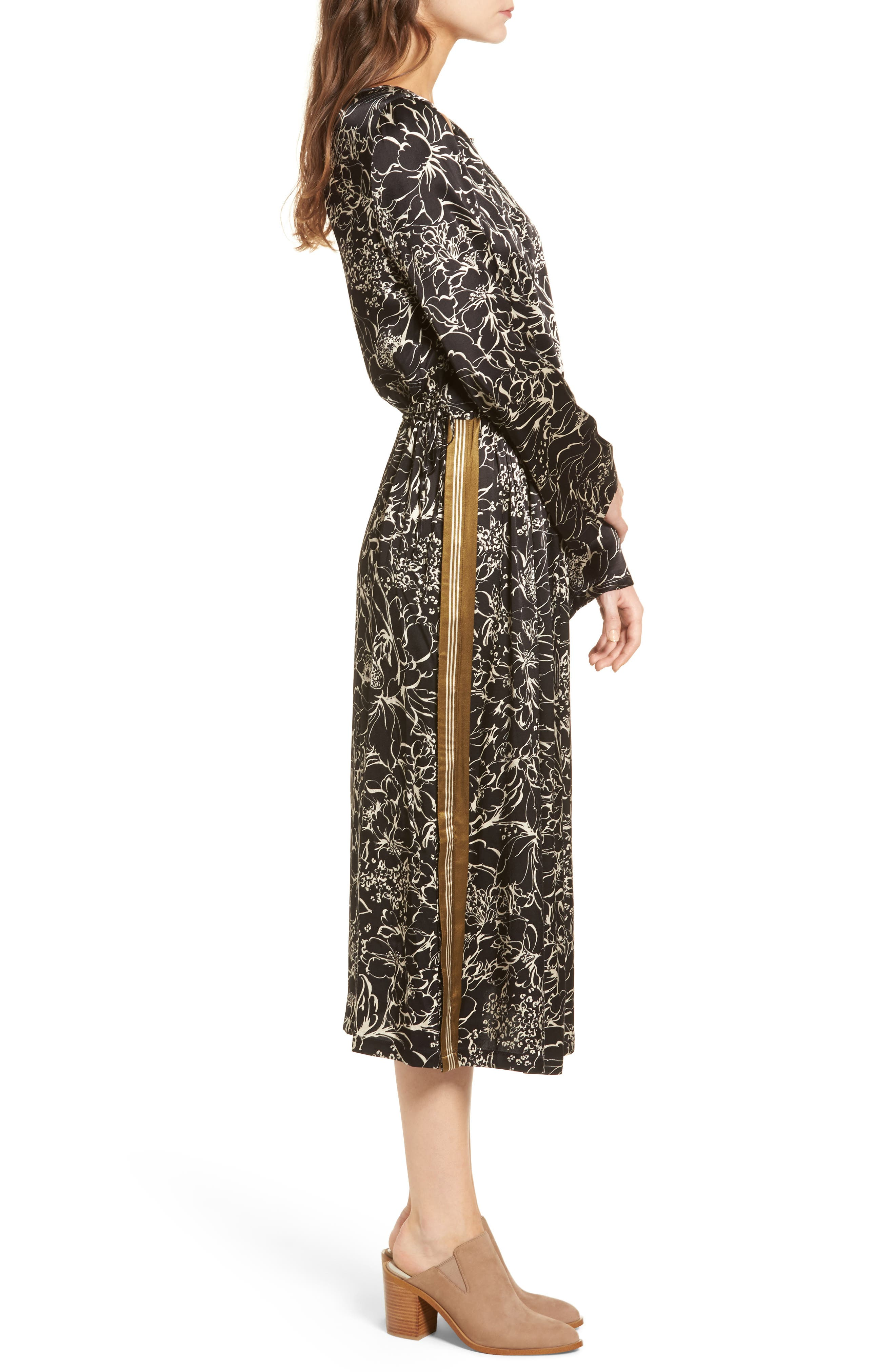 Blouson Print Dress,                             Alternate thumbnail 3, color,
