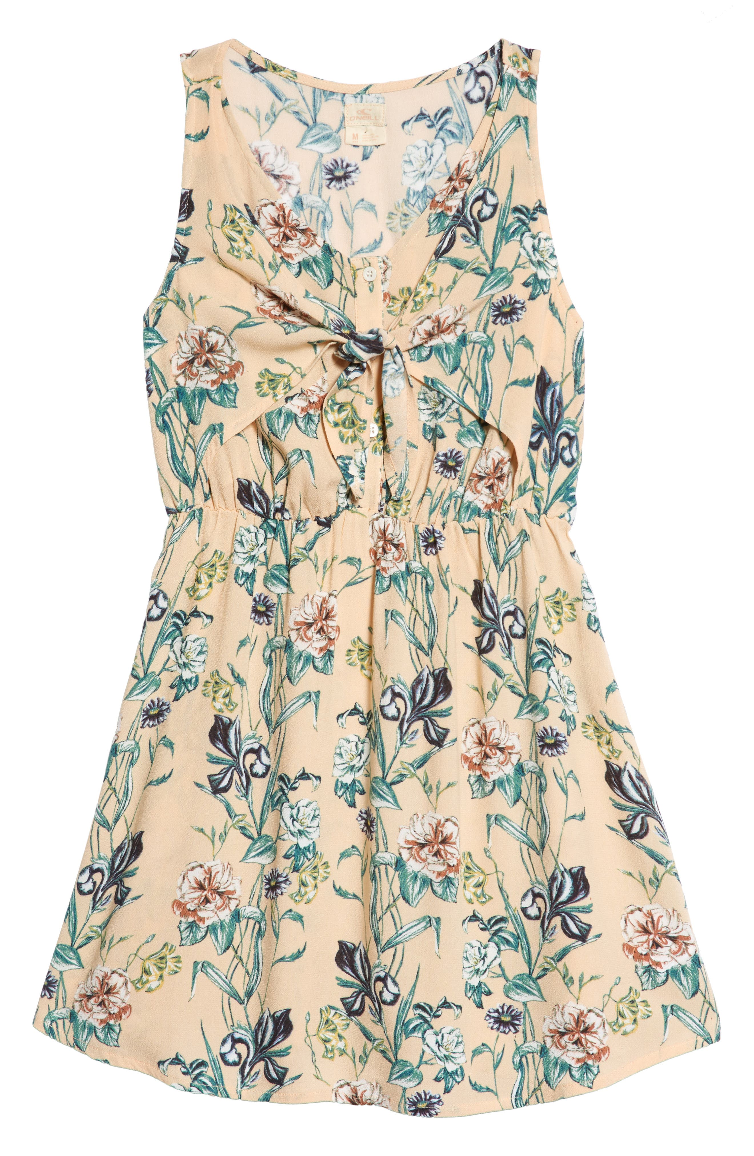 Arky Knotted Floral Print Dress,                             Main thumbnail 1, color,                             900