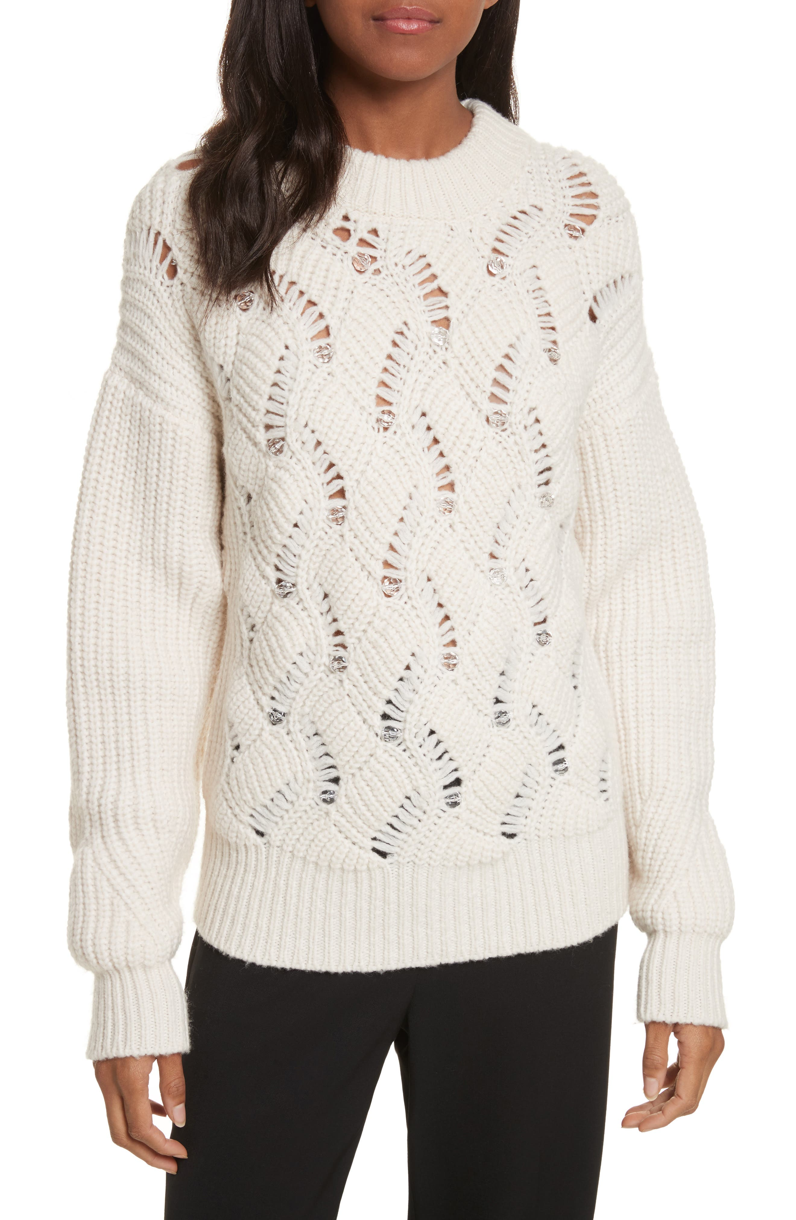 Embellished Wool Blend Sweater,                             Main thumbnail 2, color,