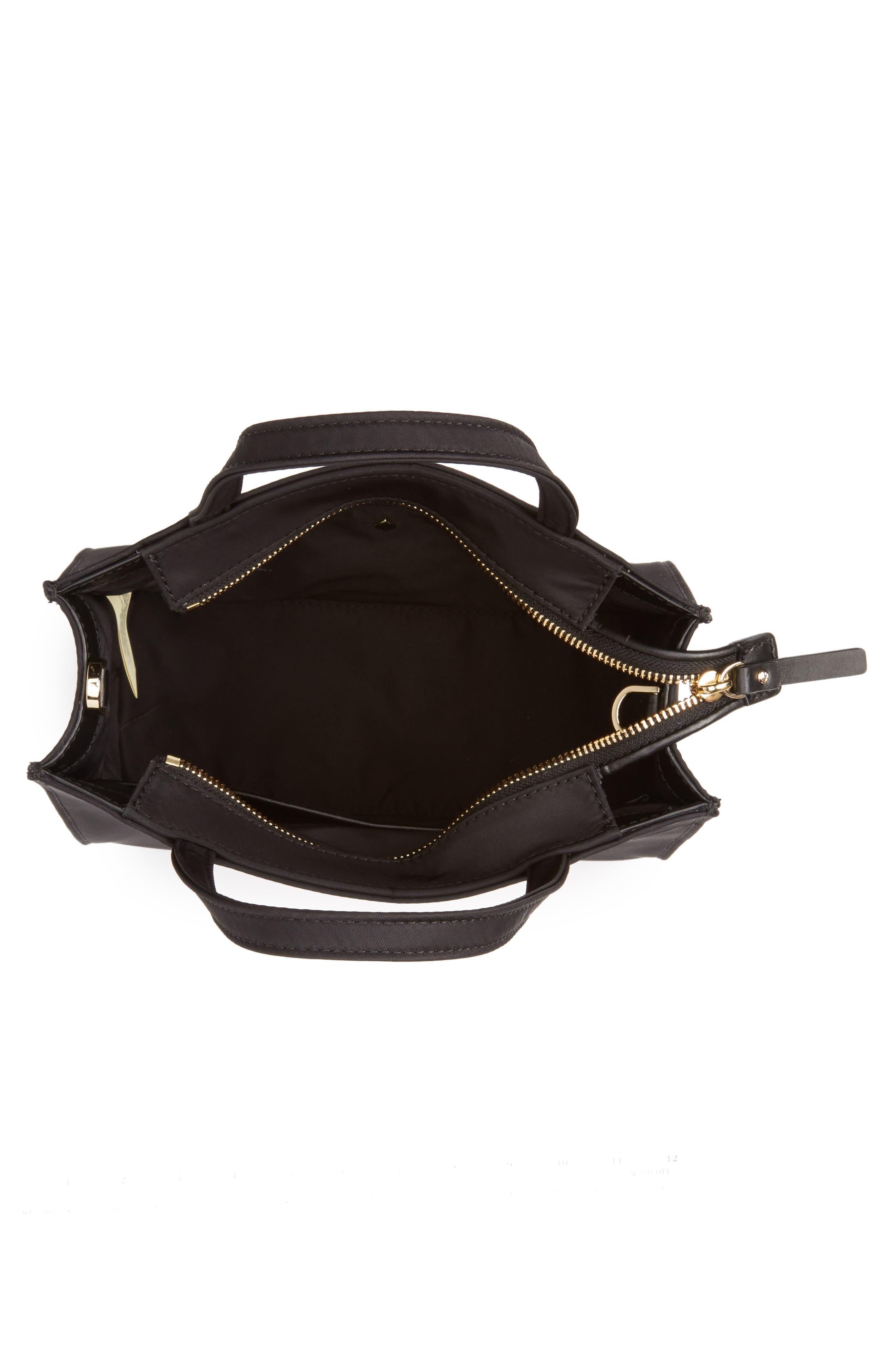 watson lane – sam nylon satchel,                             Alternate thumbnail 4, color,                             BLACK