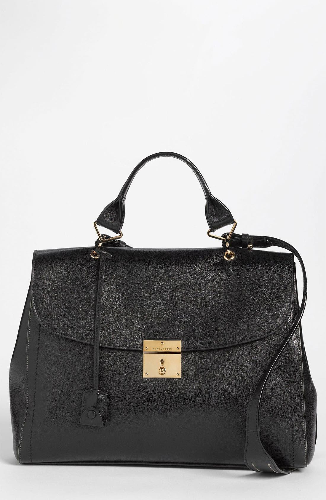 '1984' Leather Satchel,                         Main,                         color, 001