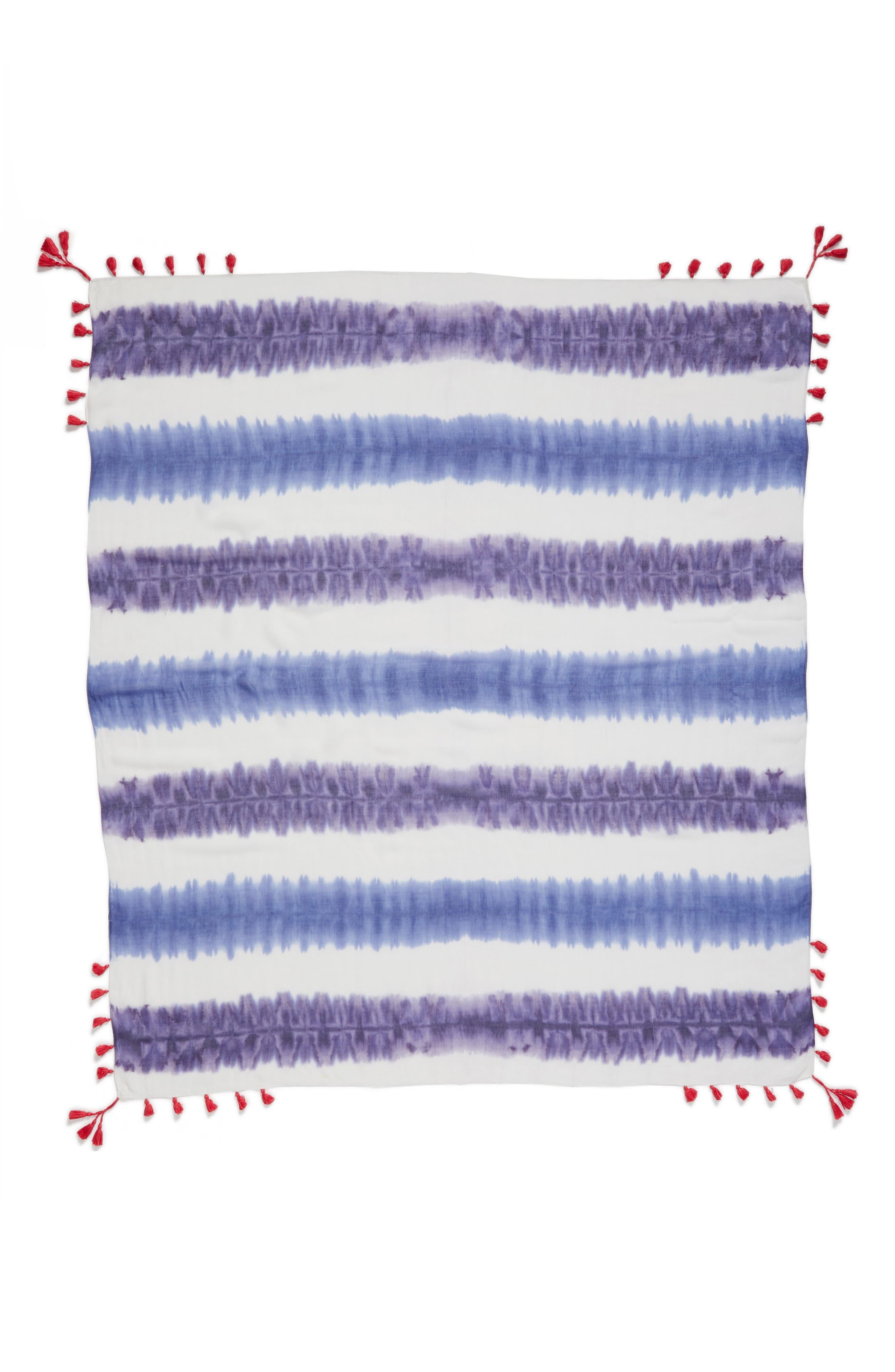 Tie Dye Square Scarf,                             Alternate thumbnail 3, color,