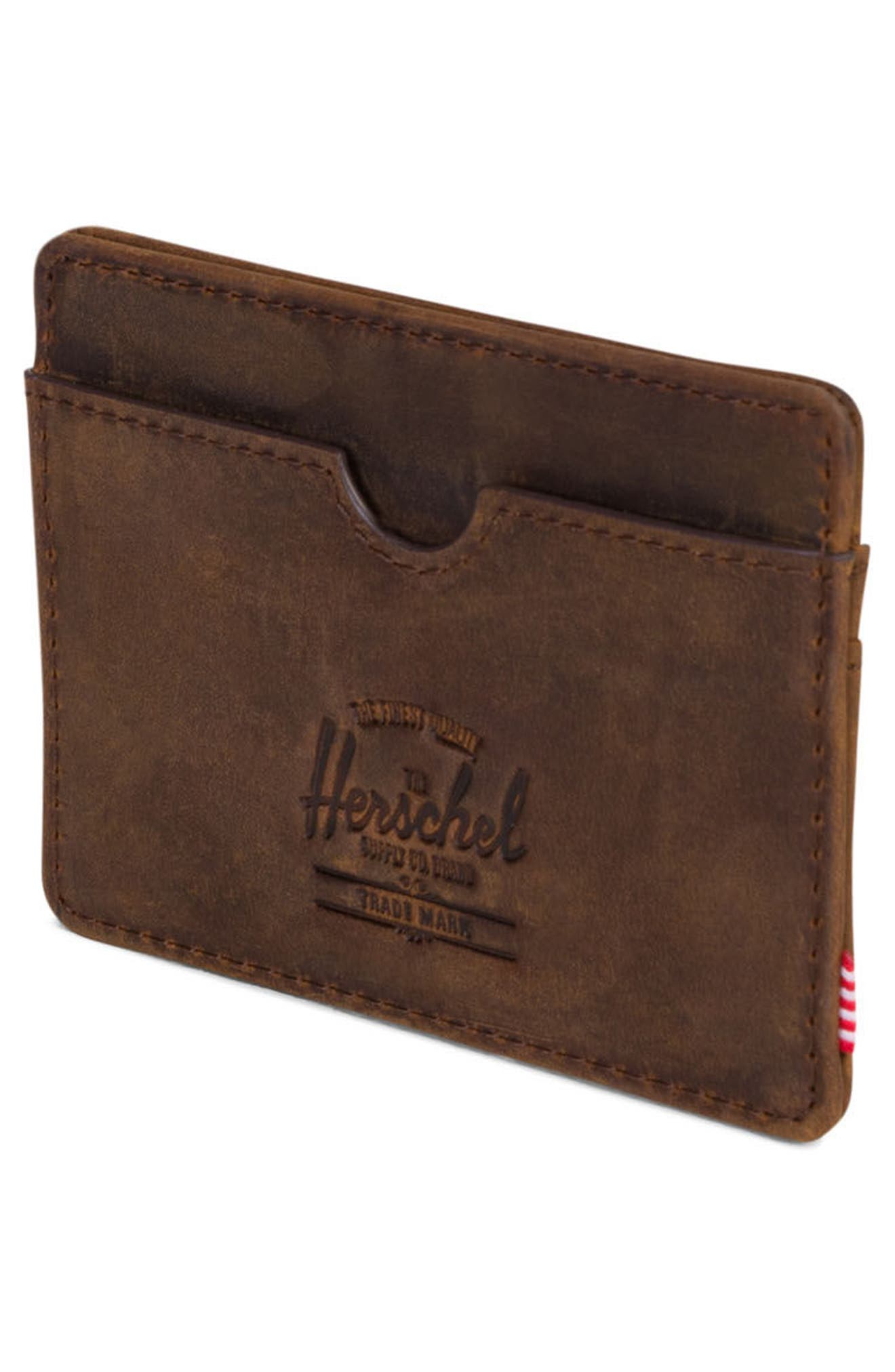 Charlie Leather Card Case,                             Alternate thumbnail 6, color,