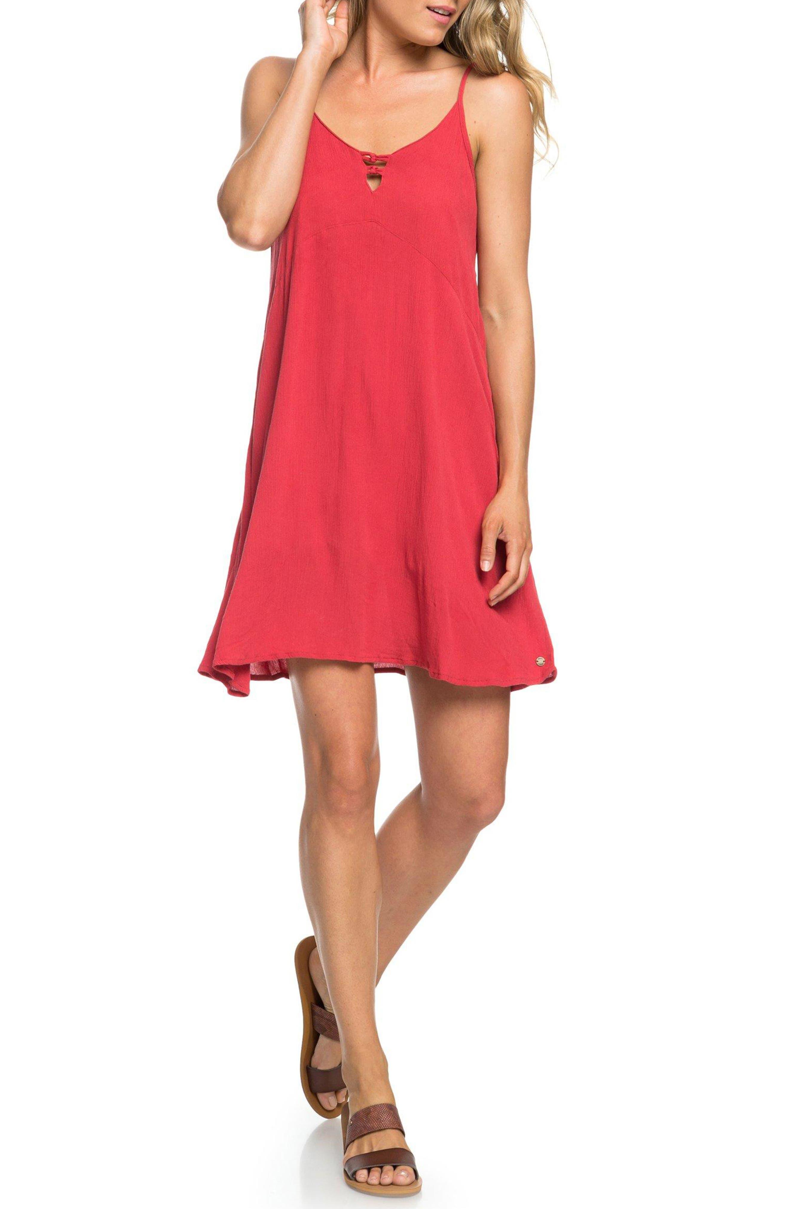 Roxy Full Bloom Swing Dress, Red