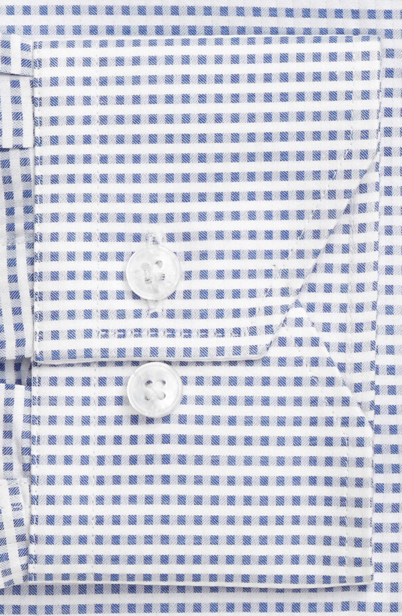 Trim Fit Check Dress Shirt,                             Alternate thumbnail 4, color,                             420