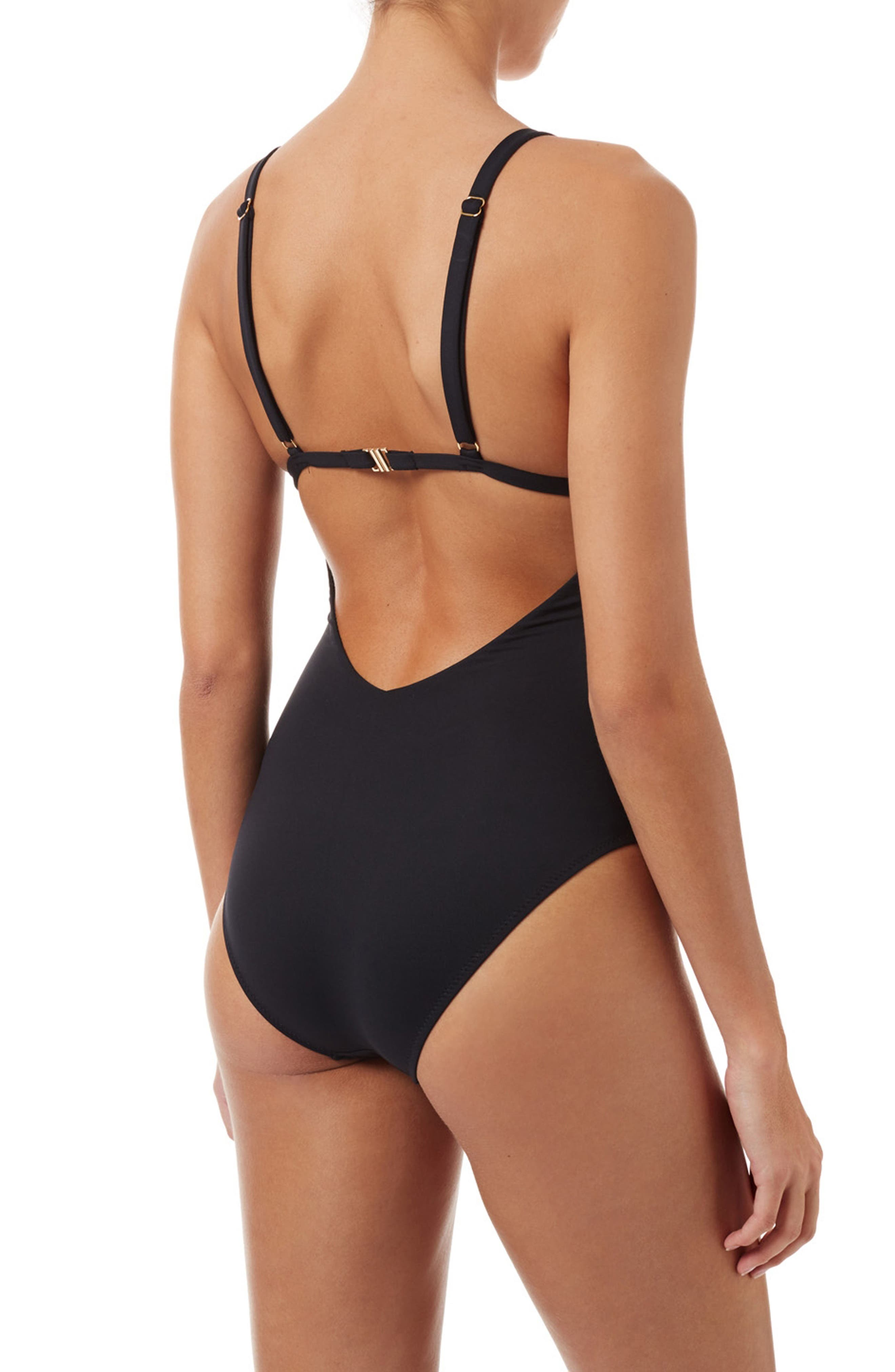 Havana One-Piece Swimsuit,                             Alternate thumbnail 2, color,                             BLACK