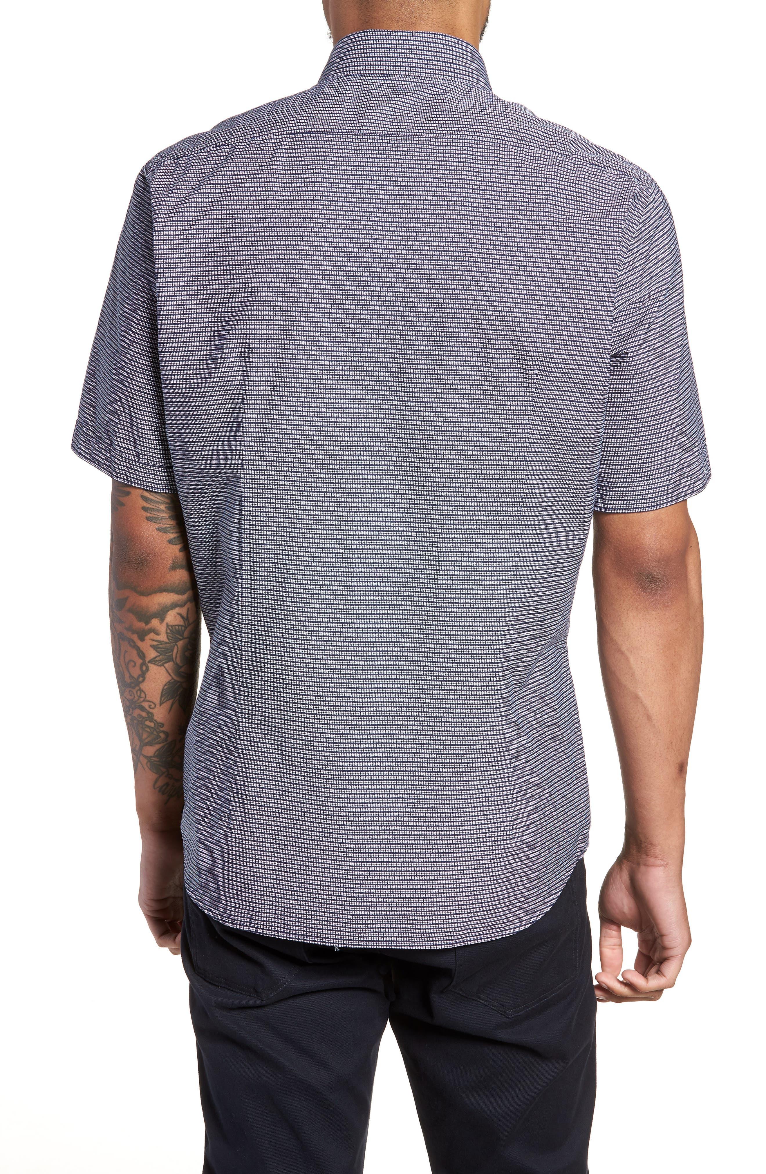Lodi Stripe Sport Shirt,                             Alternate thumbnail 2, color,                             BLUE