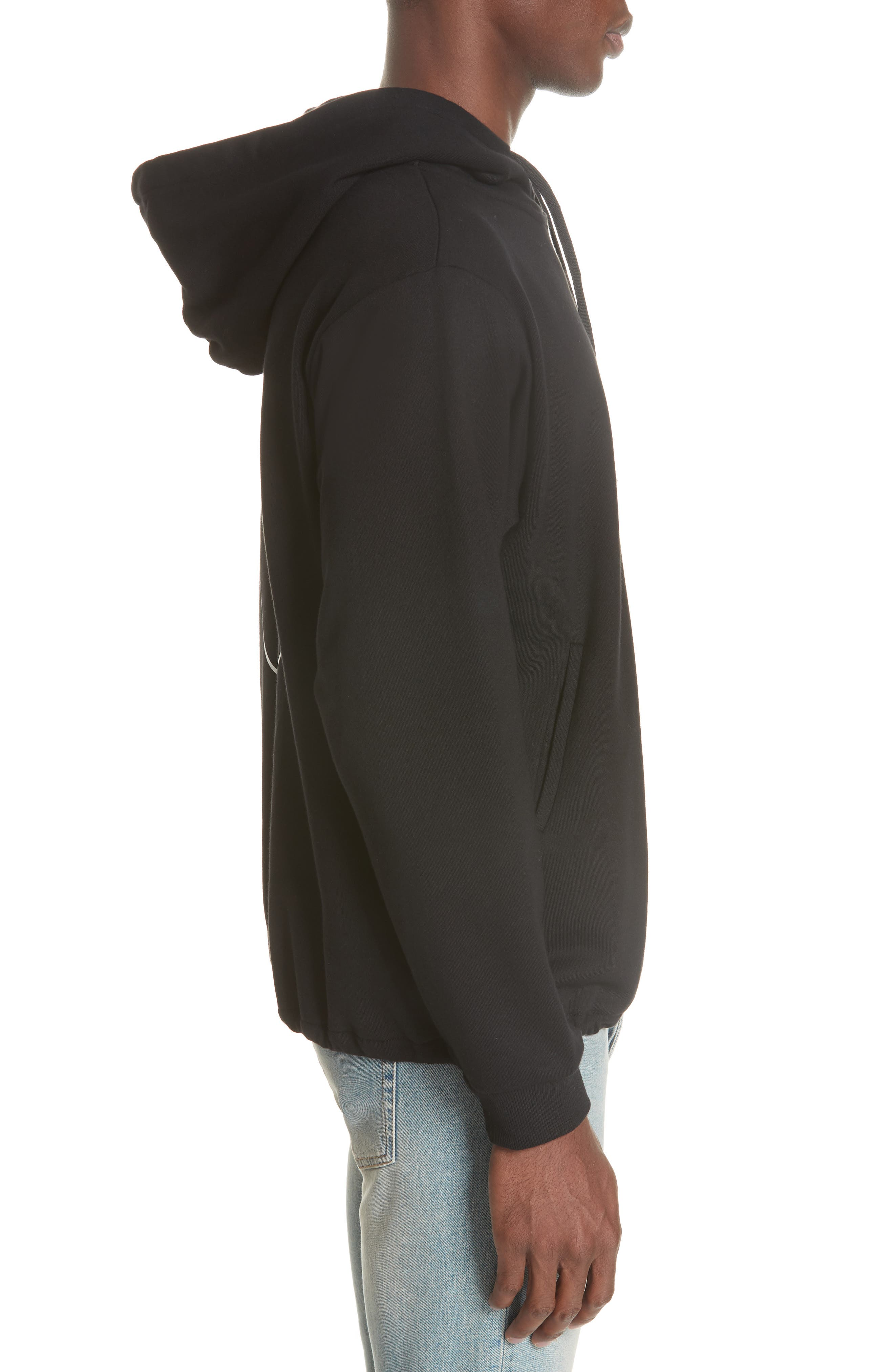 Moon Couch Surf Hoodie,                             Alternate thumbnail 3, color,                             BLACK